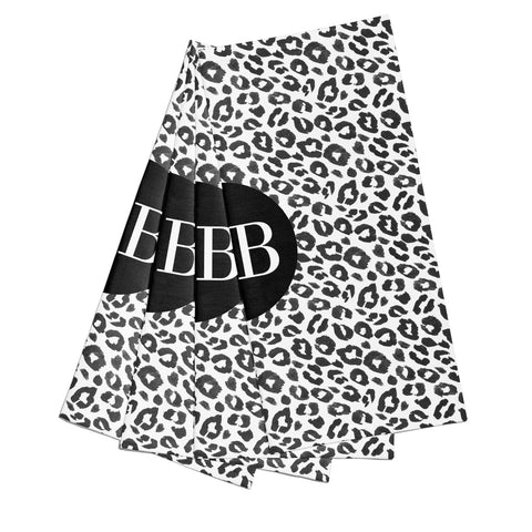 Leopard Print Black and White Napkins