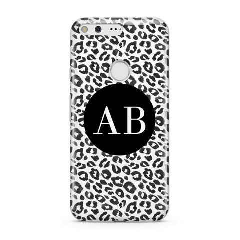 Leopard Print Black and White Google Case