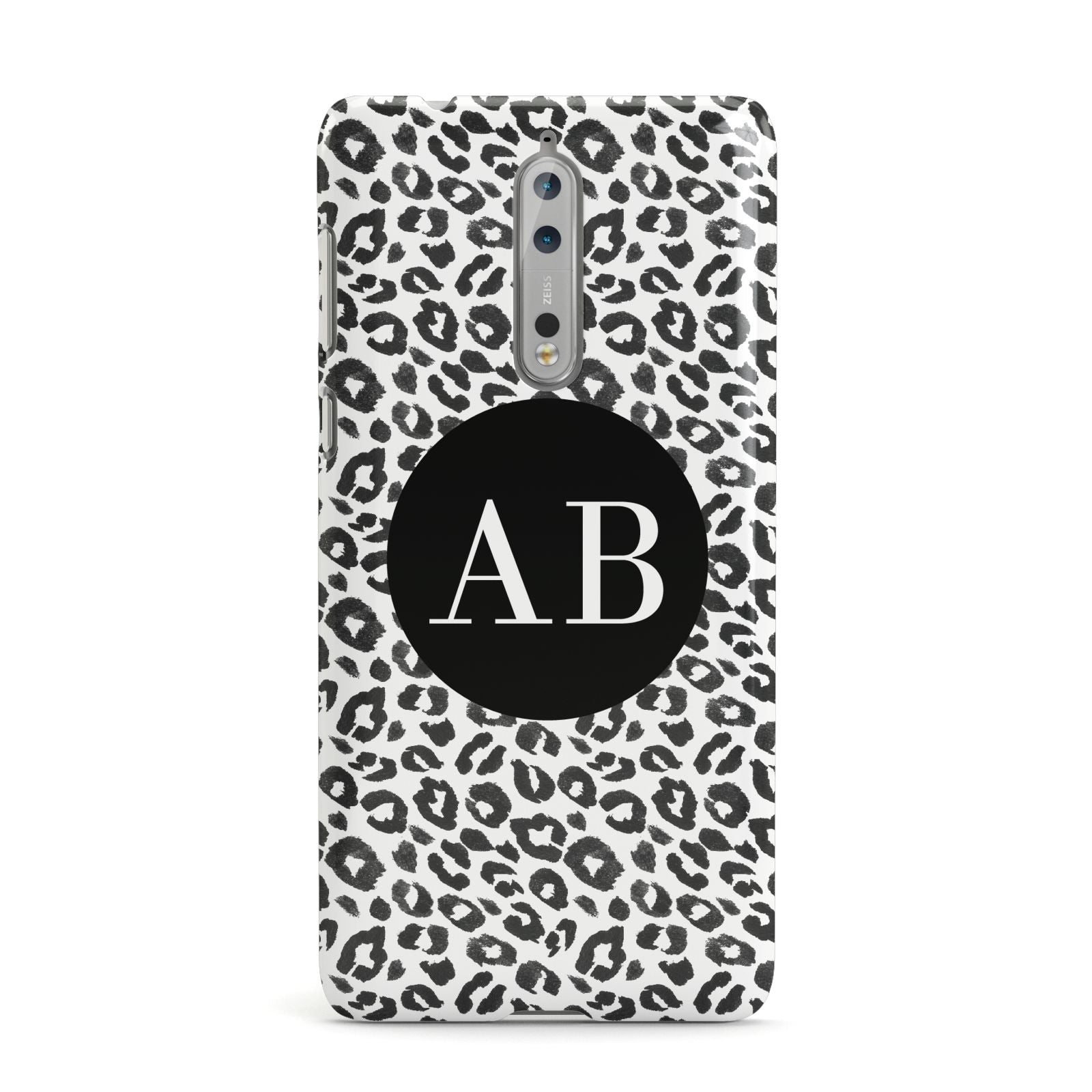 Leopard Print Black and White Nokia Case