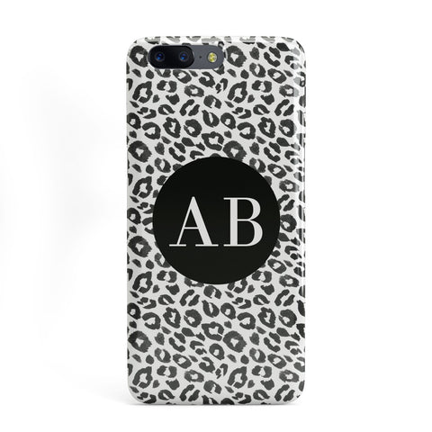 Leopard Print Black and White OnePlus Case