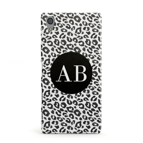 Leopard Print Black and White Sony Case