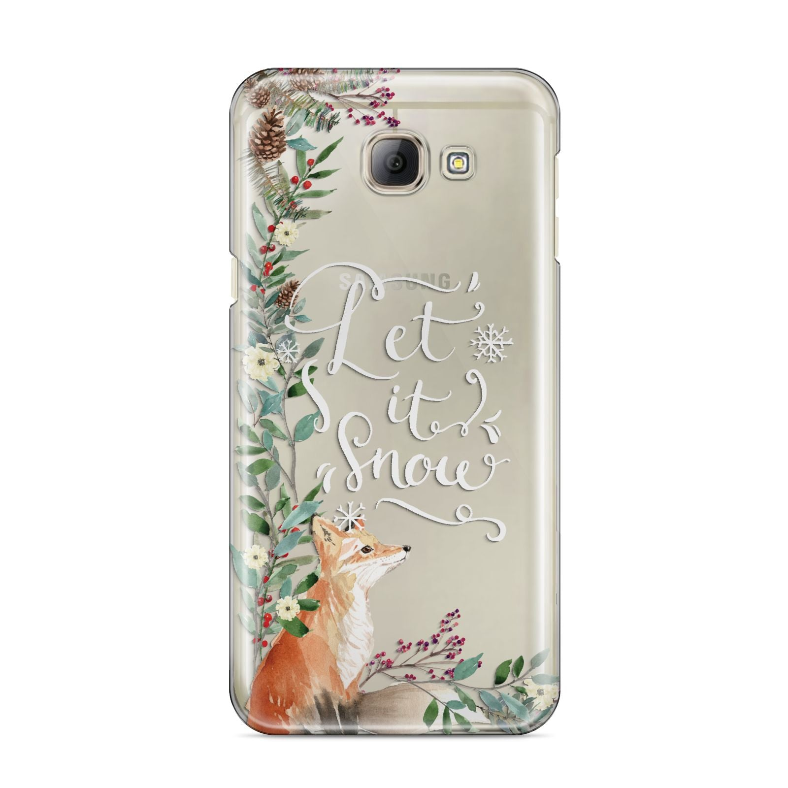 Let It Snow Christmas Samsung Galaxy A8 2016 Case