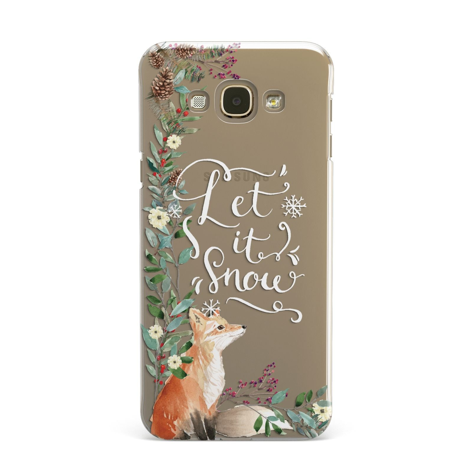 Let It Snow Christmas Samsung Galaxy A8 Case