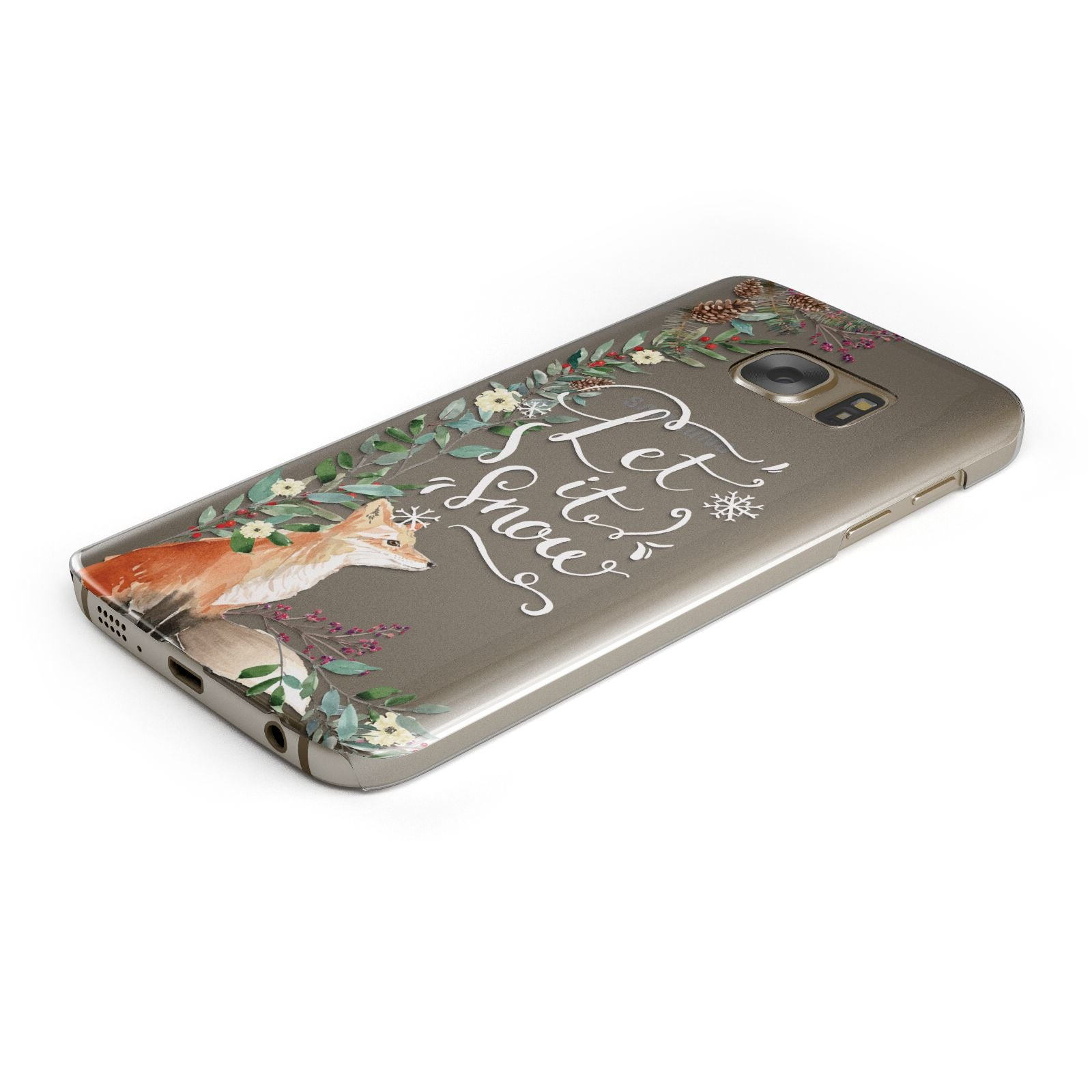Let It Snow Christmas Samsung Galaxy Case Bottom Cutout