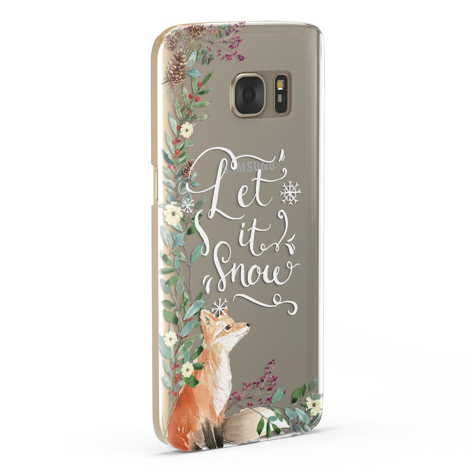 Let It Snow Christmas Samsung Galaxy Case Fourty Five Degrees