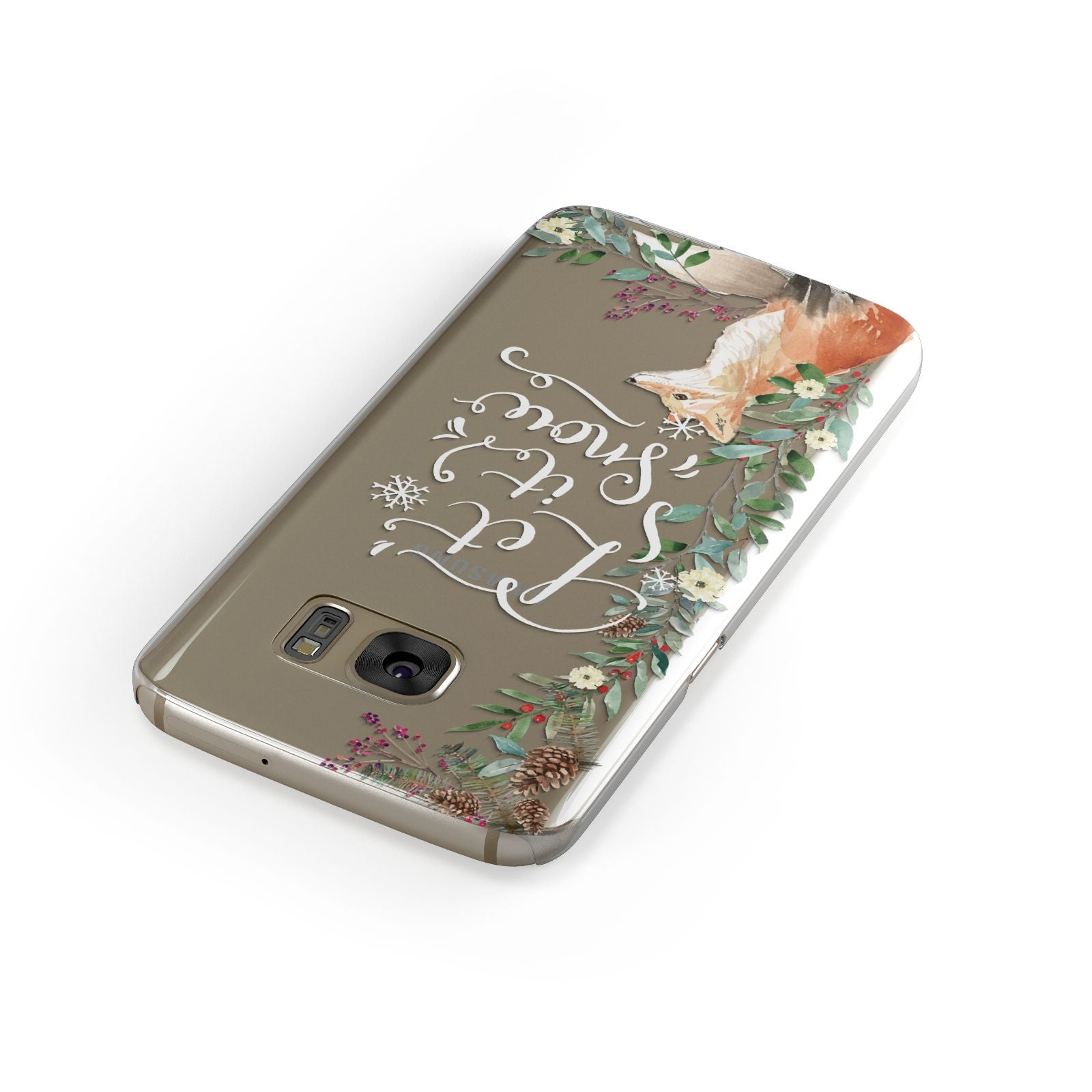Let It Snow Christmas Samsung Galaxy Case Front Close Up
