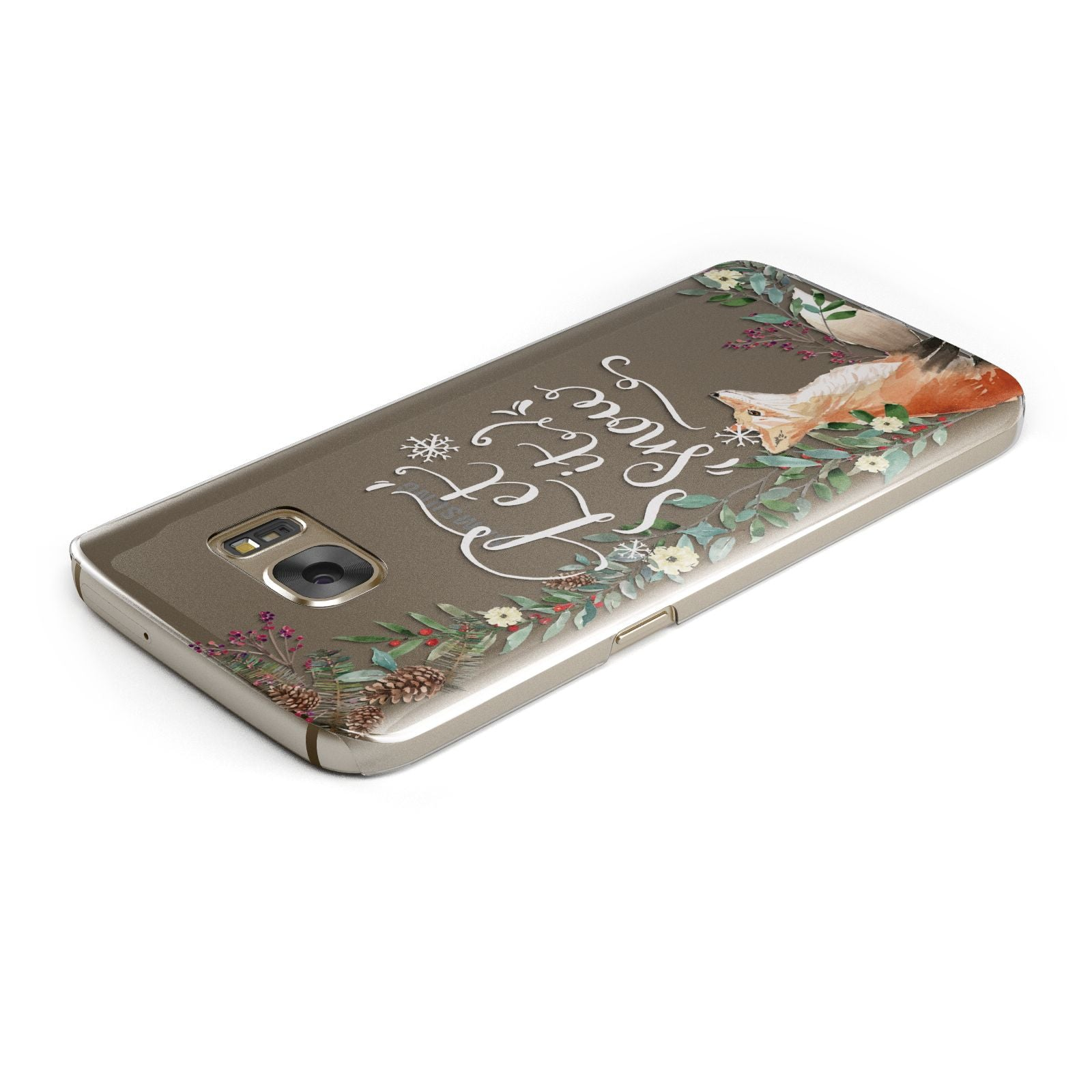 Let It Snow Christmas Samsung Galaxy Case Top Cutout