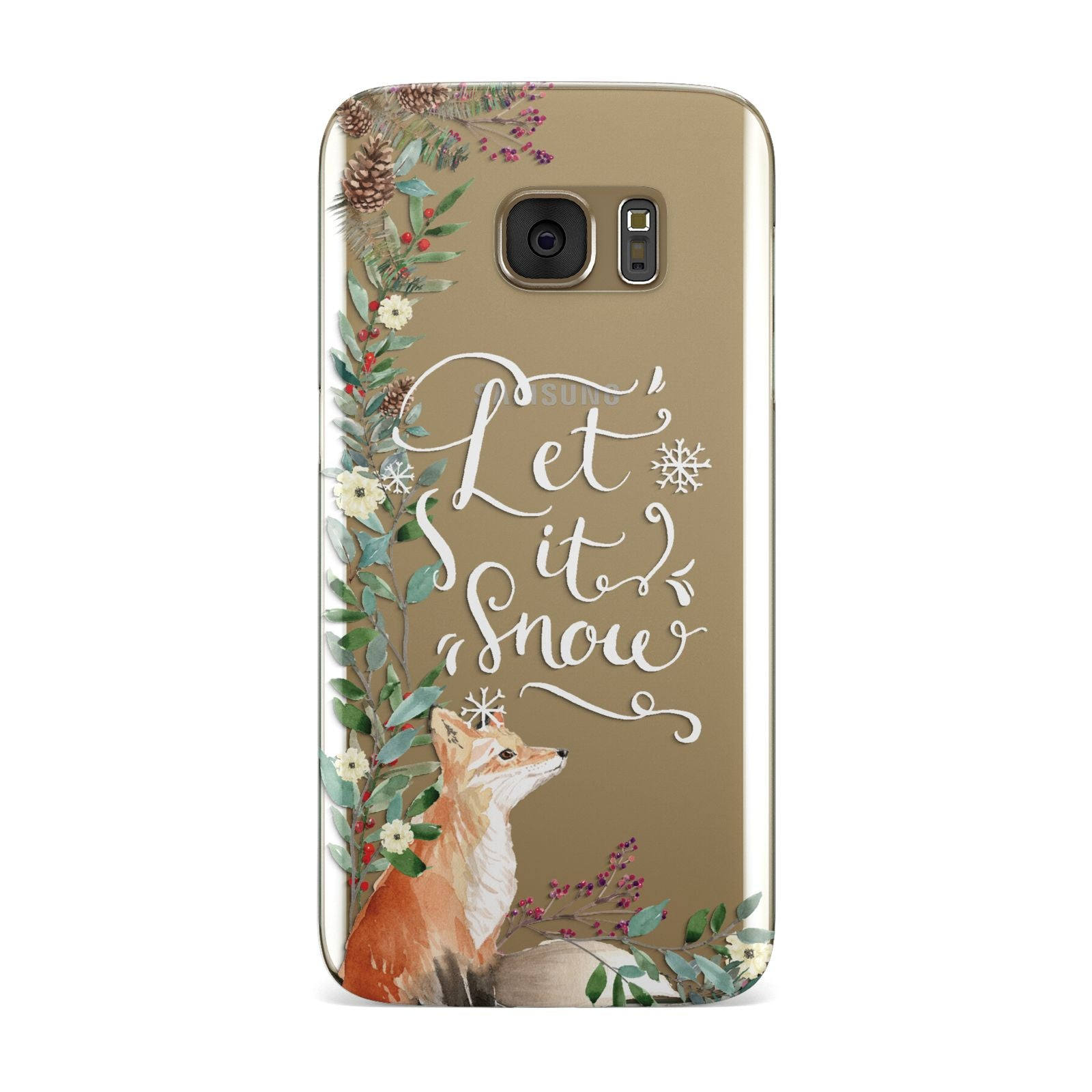 Let It Snow Christmas Samsung Galaxy Case