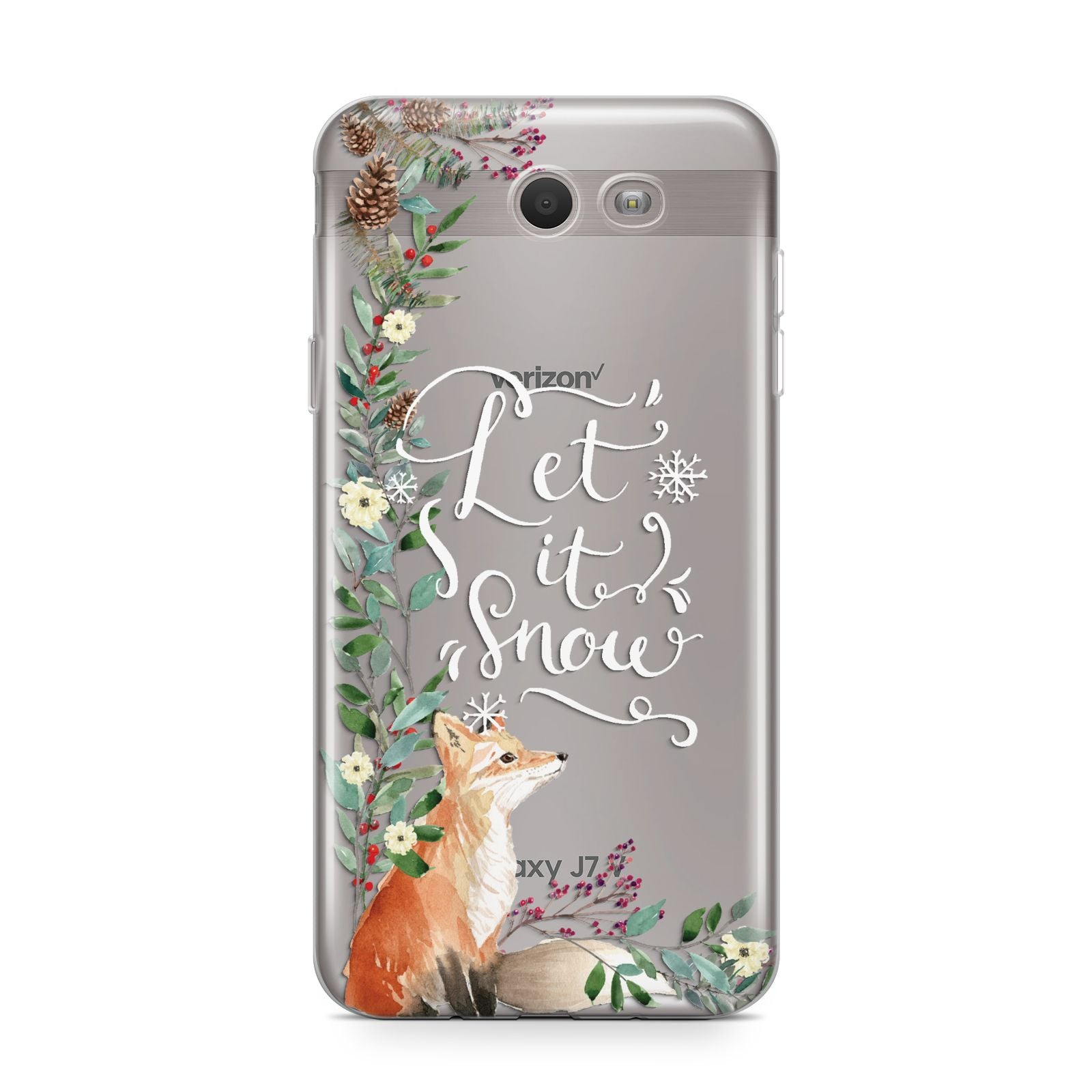 Let It Snow Christmas Samsung Galaxy J7 2017 Case