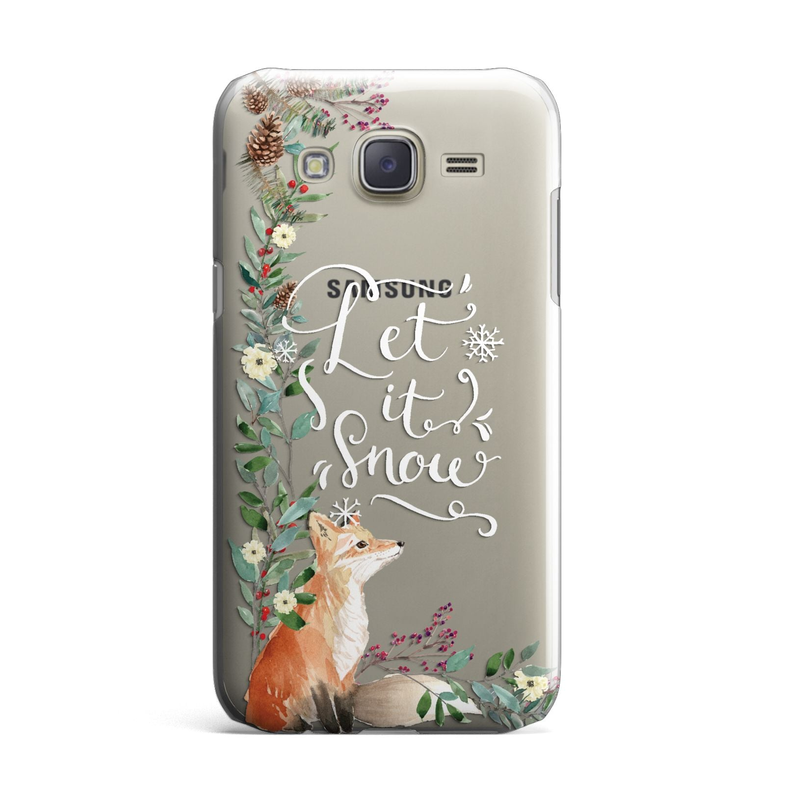 Let It Snow Christmas Samsung Galaxy J7 Case