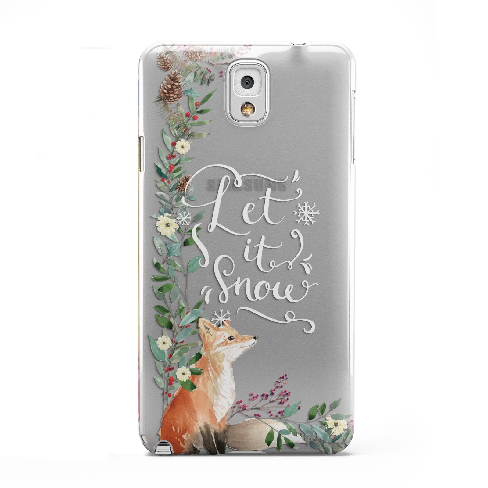 Let It Snow Christmas Samsung Galaxy Note 3 Case
