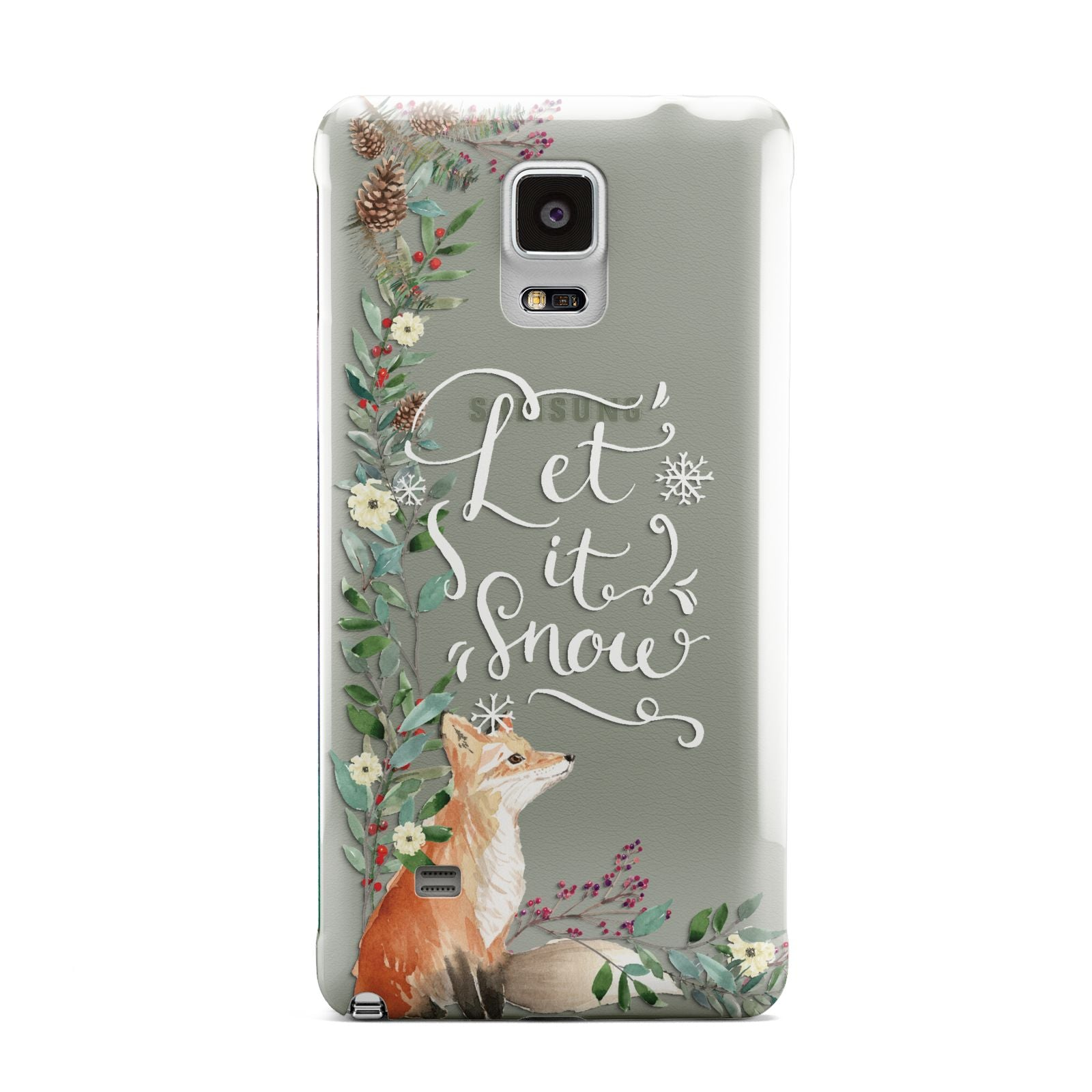 Let It Snow Christmas Samsung Galaxy Note 4 Case