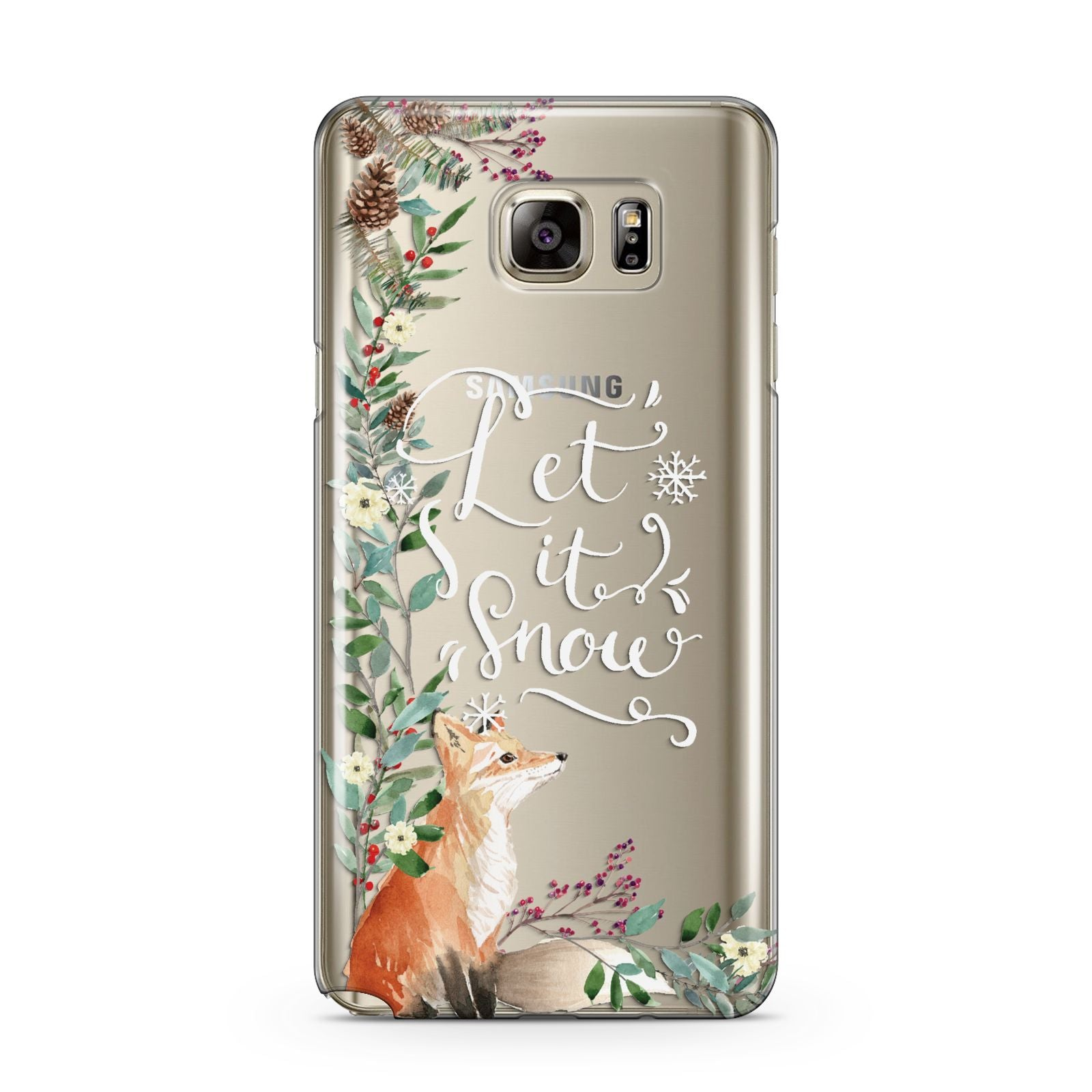 Let It Snow Christmas Samsung Galaxy Note 5 Case