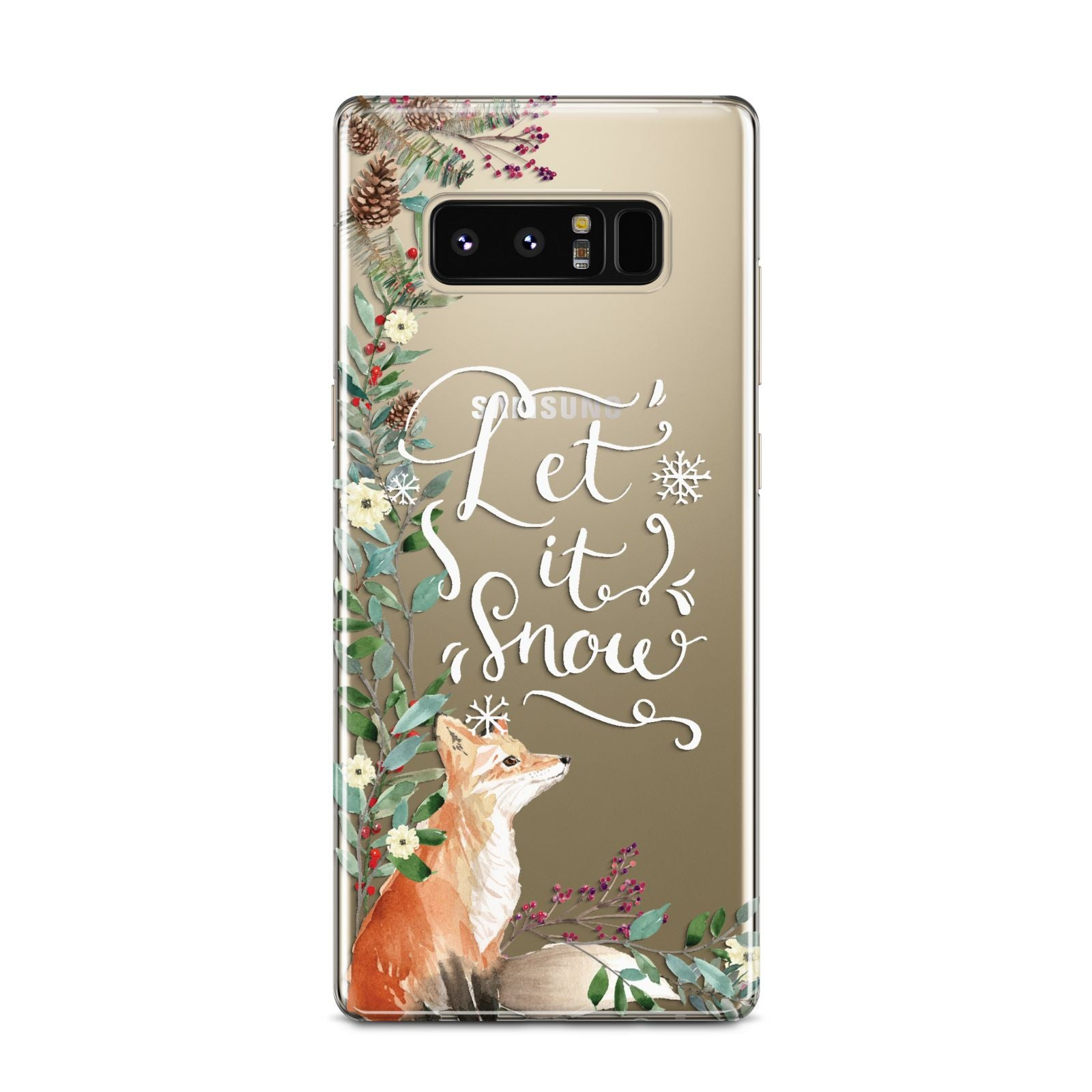 Let It Snow Christmas Samsung Galaxy Note 8 Case
