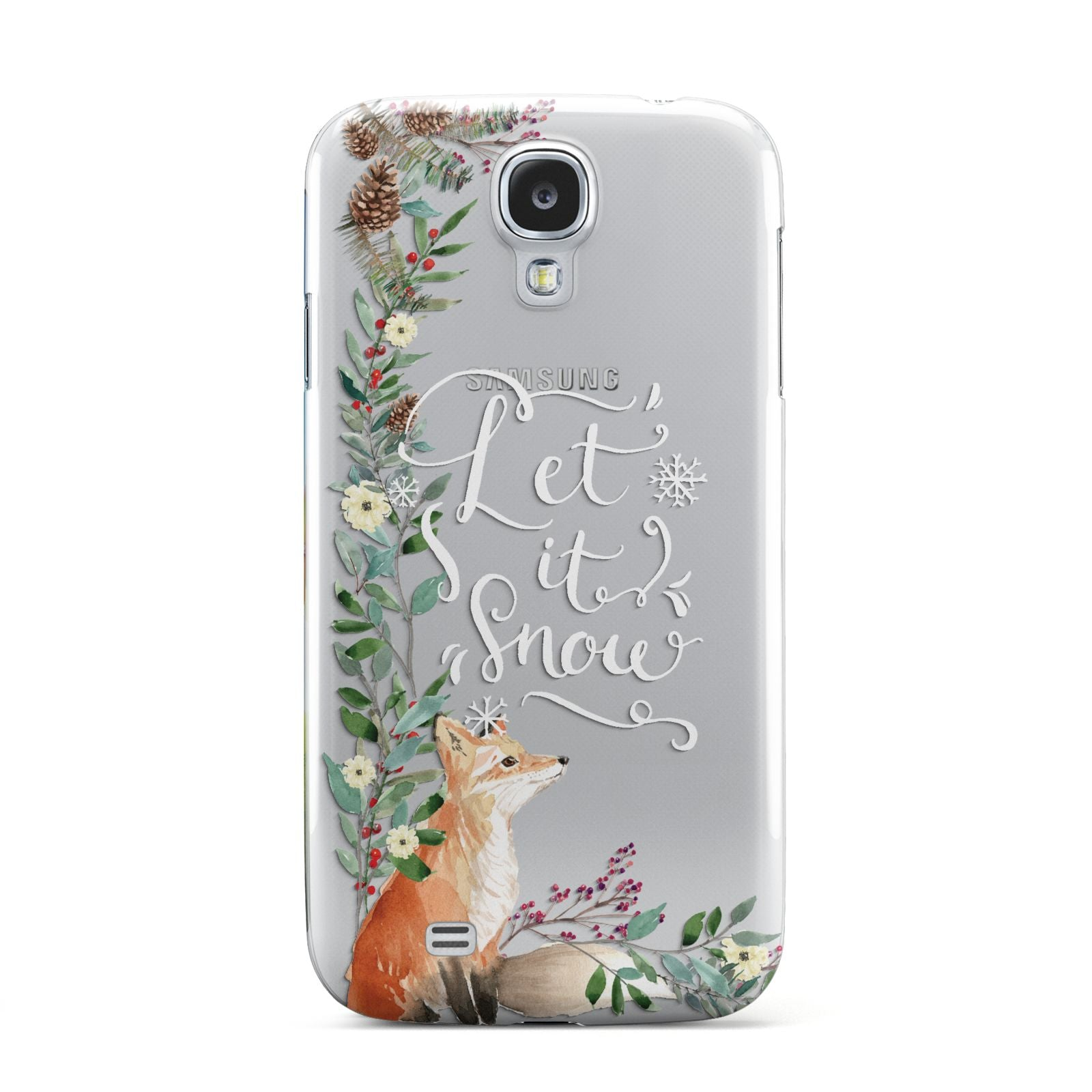 Let It Snow Christmas Samsung Galaxy S4 Case