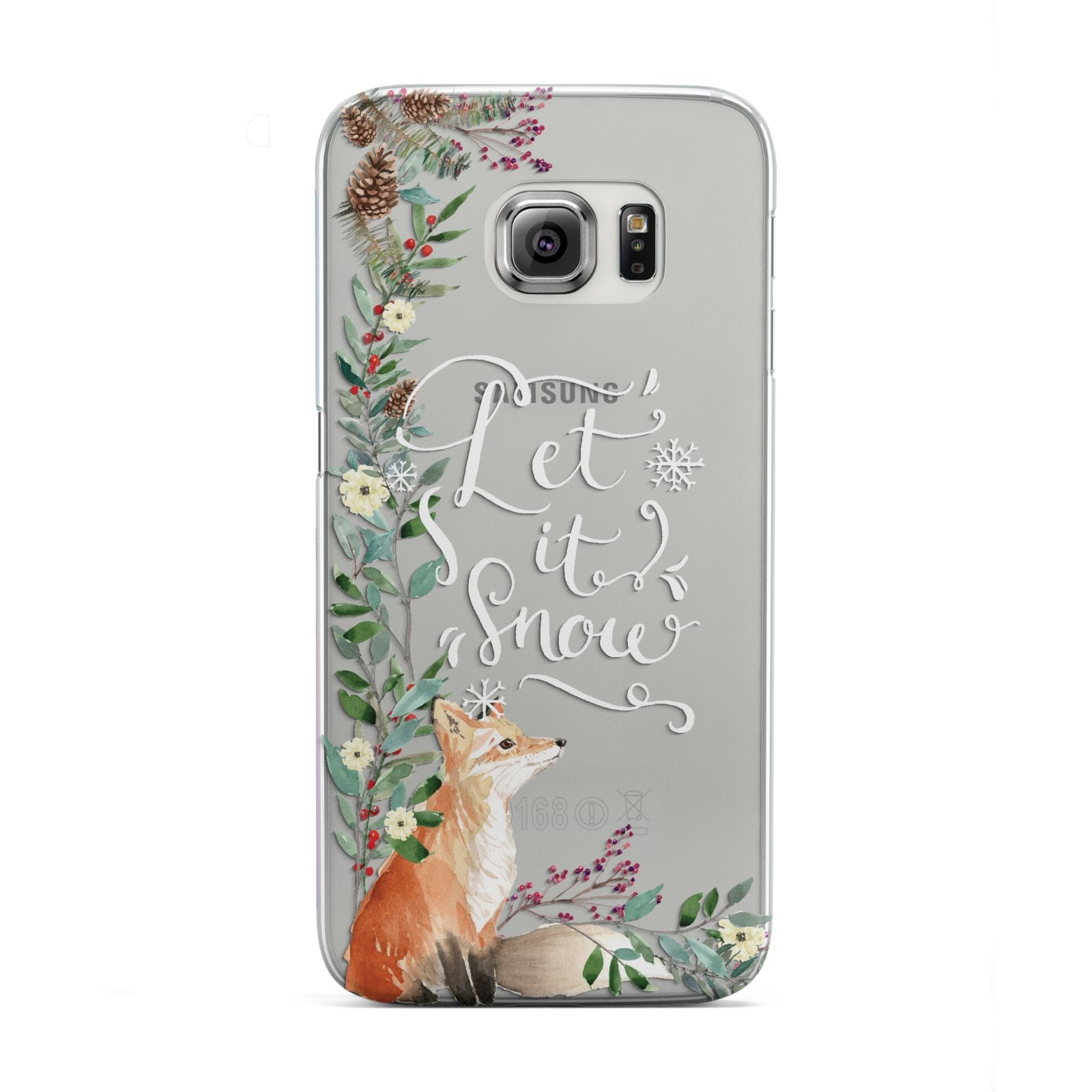 Let It Snow Christmas Samsung Galaxy S6 Edge Case