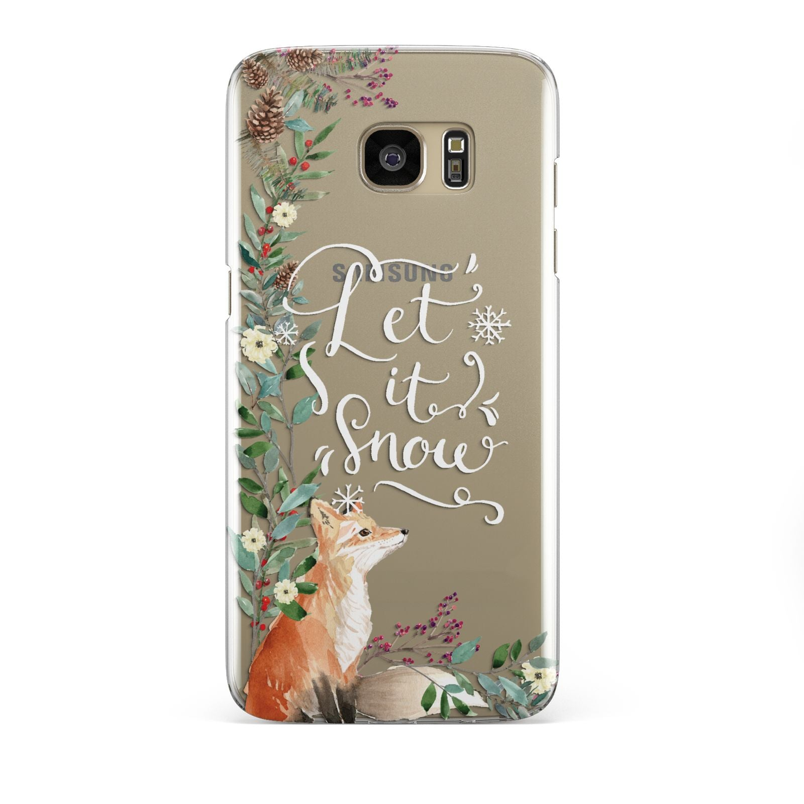 Let It Snow Christmas Samsung Galaxy S7 Edge Case