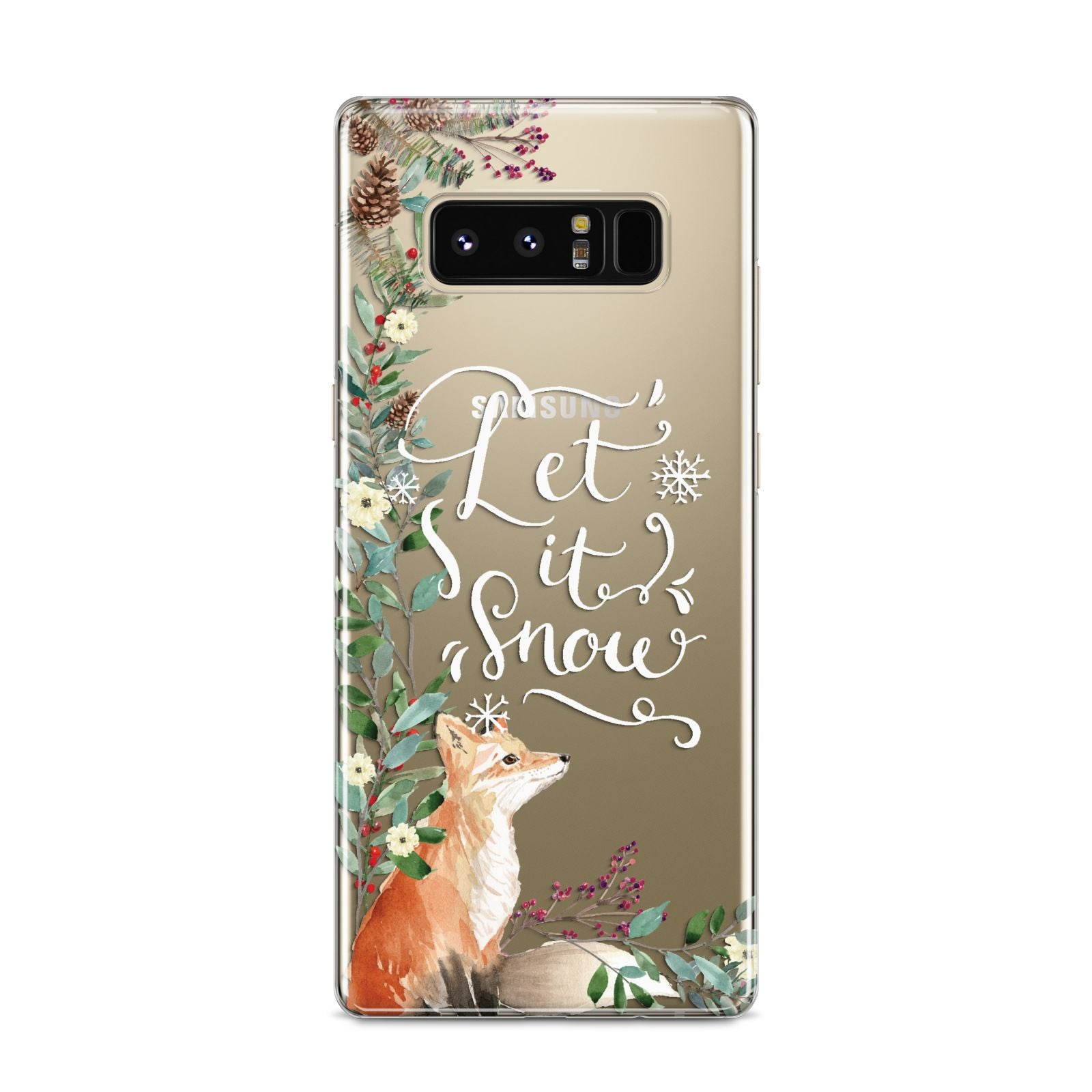 Let It Snow Christmas Samsung Galaxy S8 Case