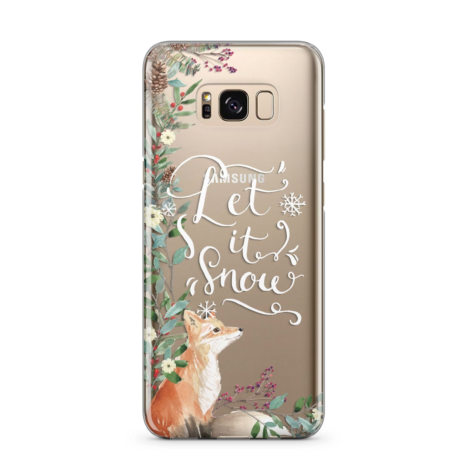 Let It Snow Christmas Samsung Galaxy S8 Plus Case