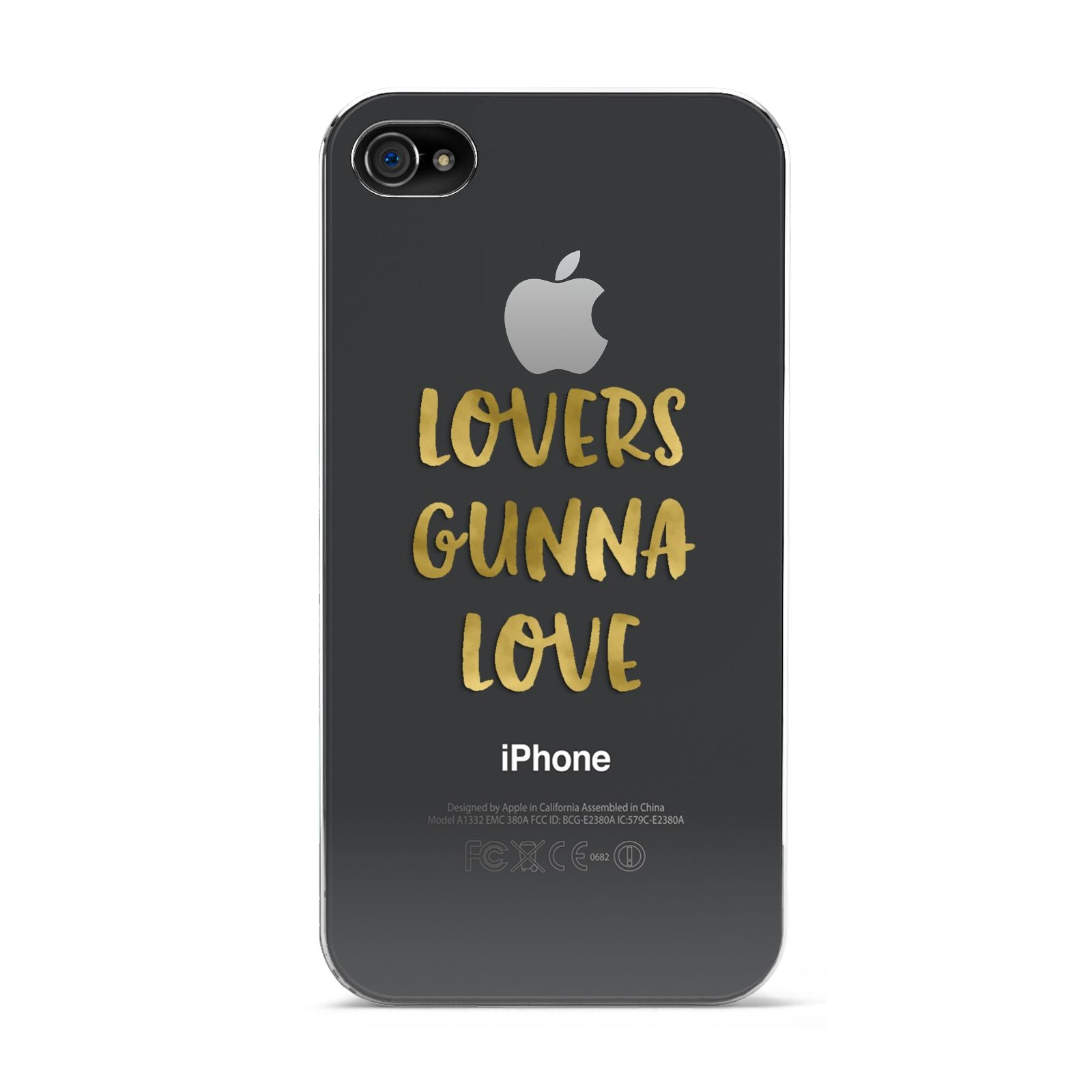 Lovers Gunna Love Real Gold Foil Apple iPhone 4s Case