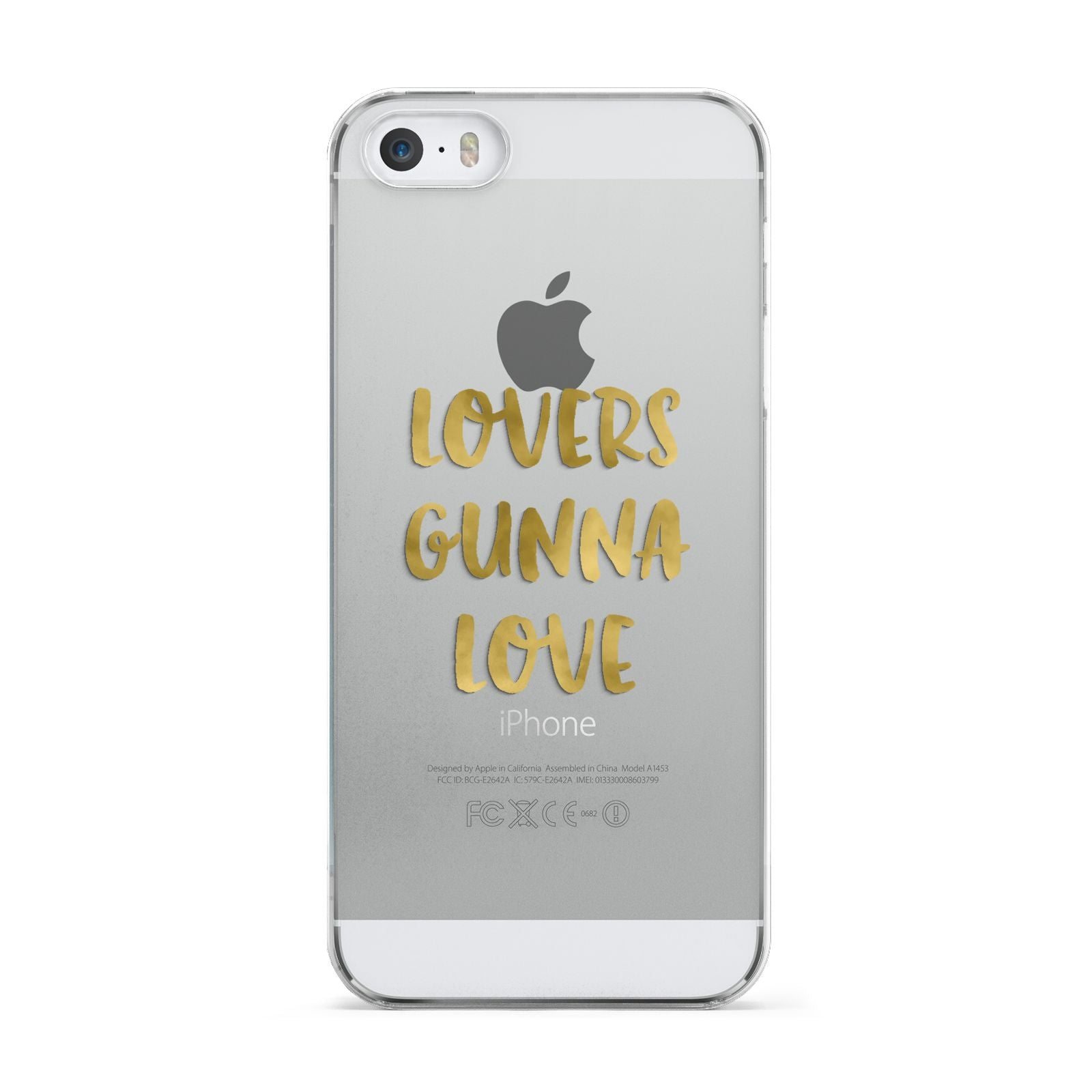 Lovers Gunna Love Real Gold Foil Apple iPhone 5 Case