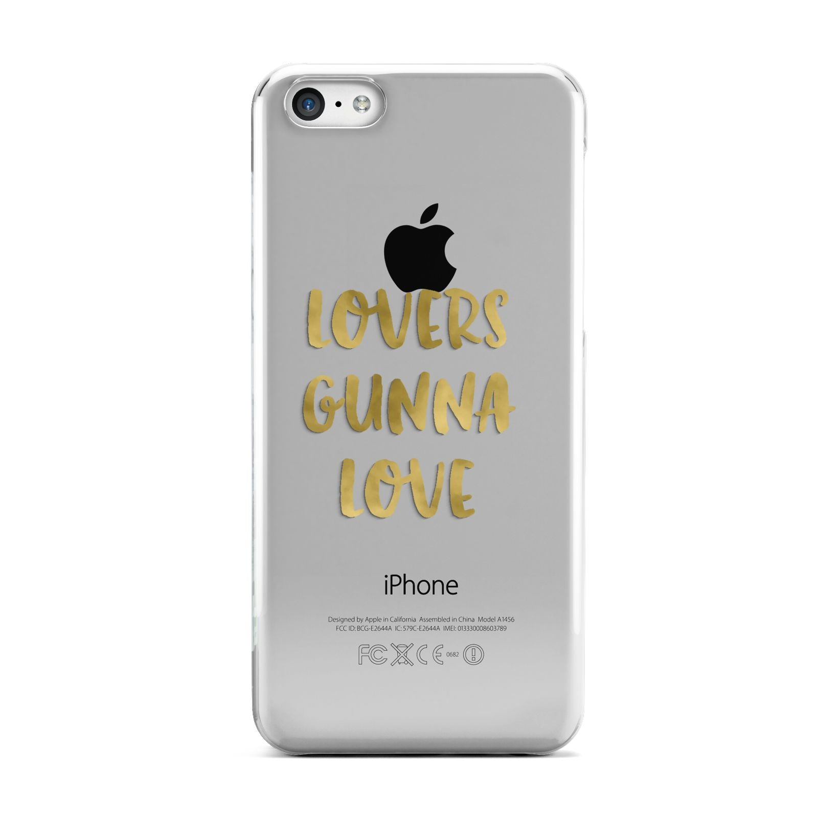Lovers Gunna Love Real Gold Foil Apple iPhone 5c Case