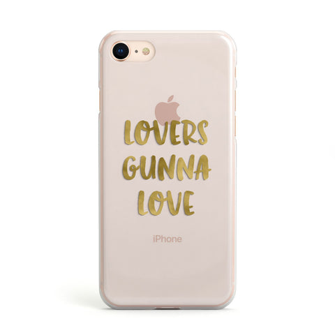 Lovers Gunna Love Real Gold Foil Apple iPhone Case
