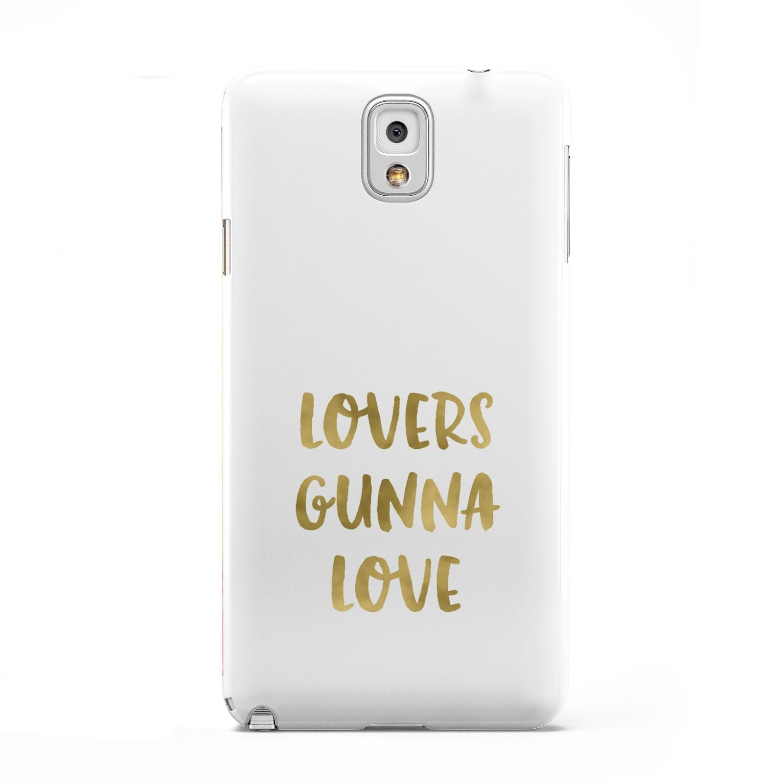 Lovers Gunna Love Real Gold Foil Samsung Galaxy Note 3 Case