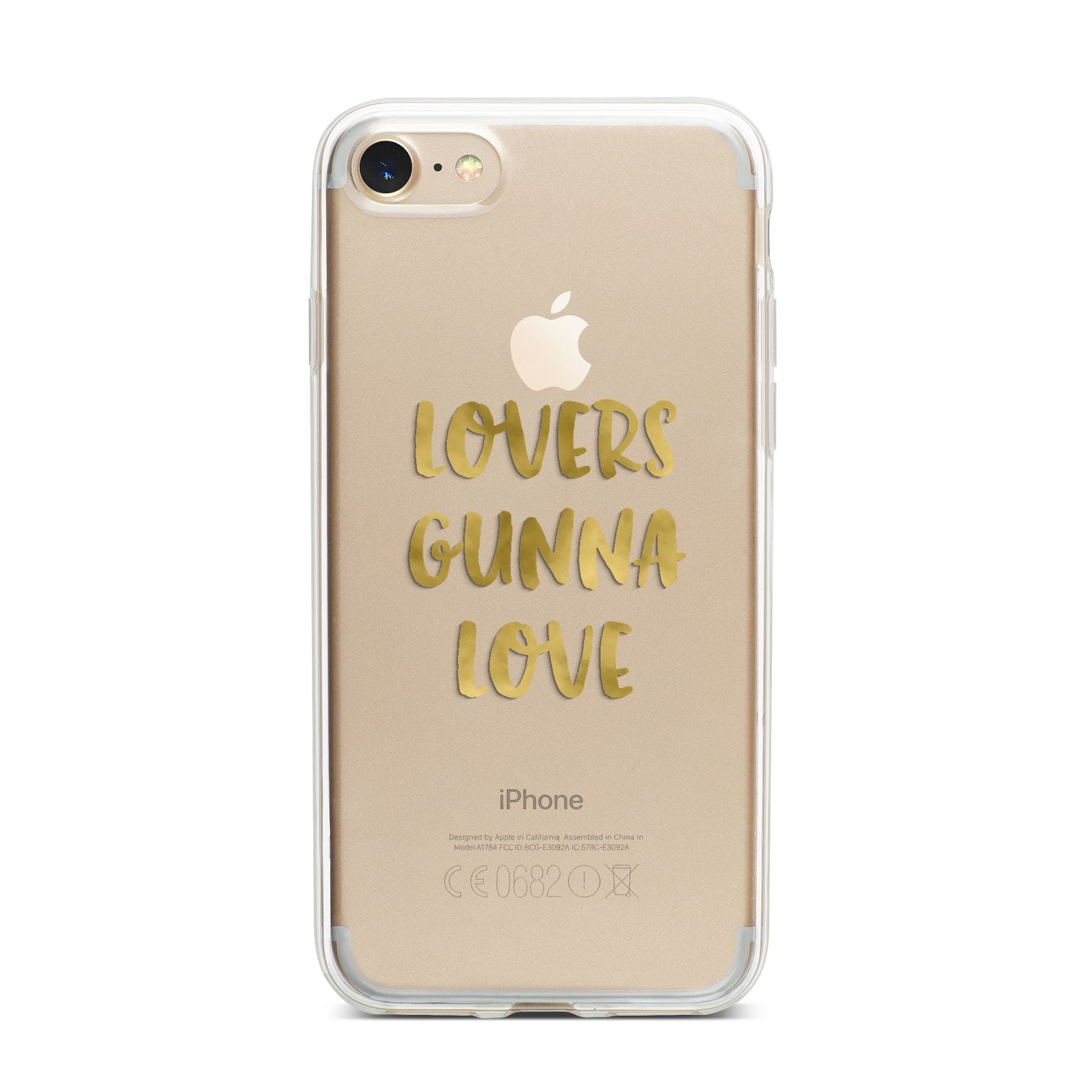 Lovers Gunna Love Real Gold Foil iPhone 7 Bumper Case on Gold iPhone