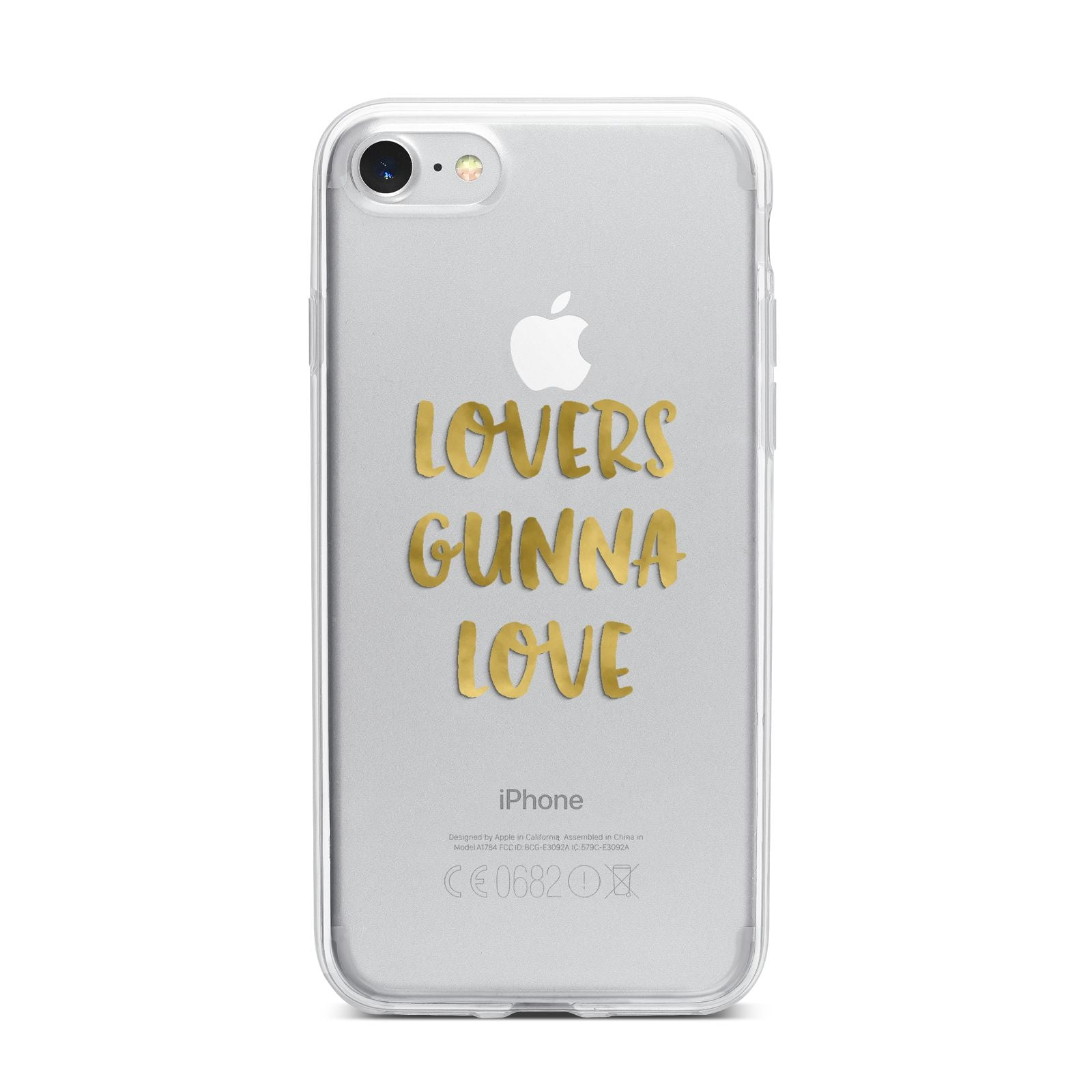 Lovers Gunna Love Real Gold Foil iPhone 7 Bumper Case on Silver iPhone