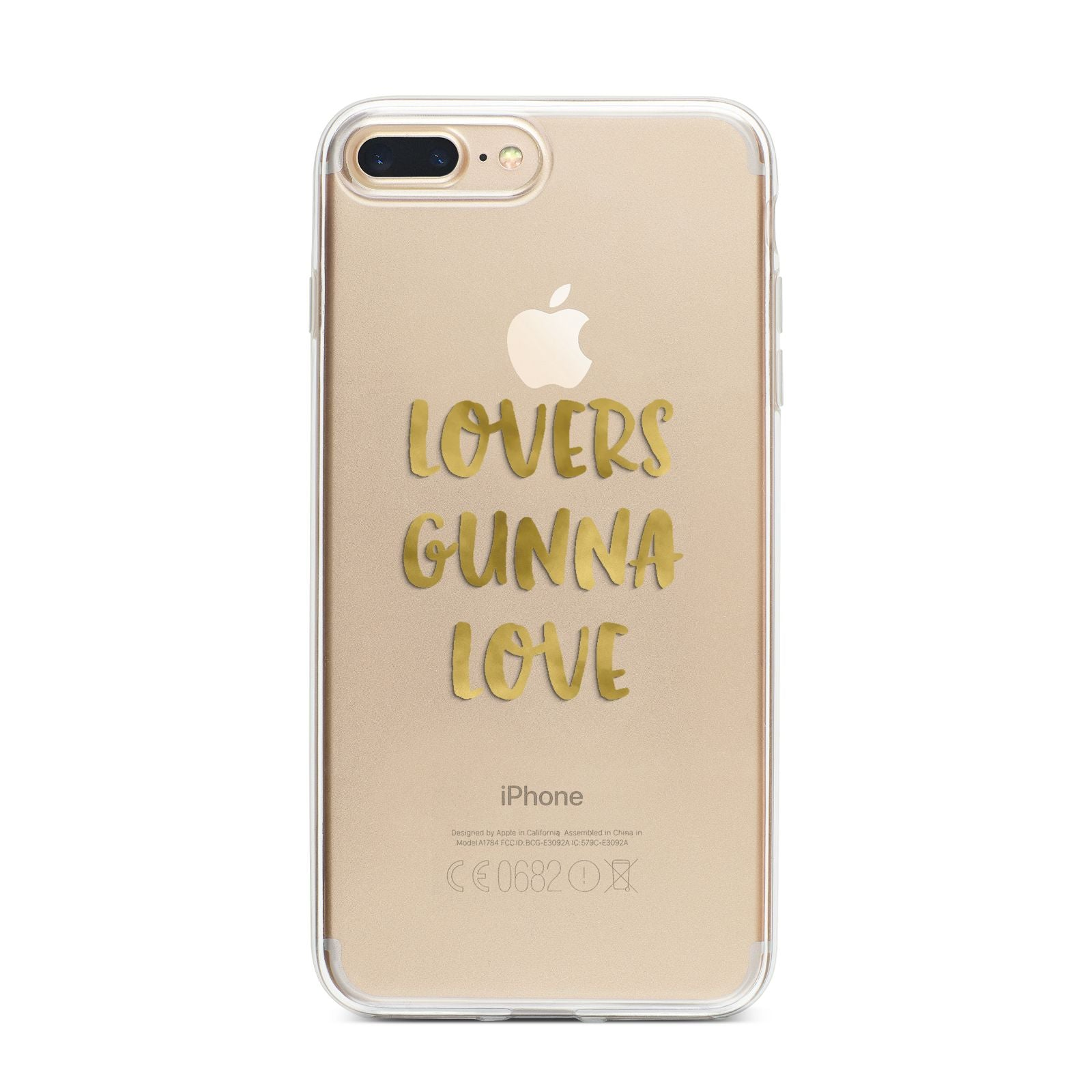 Lovers Gunna Love Real Gold Foil iPhone 7 Plus Bumper Case on Gold iPhone