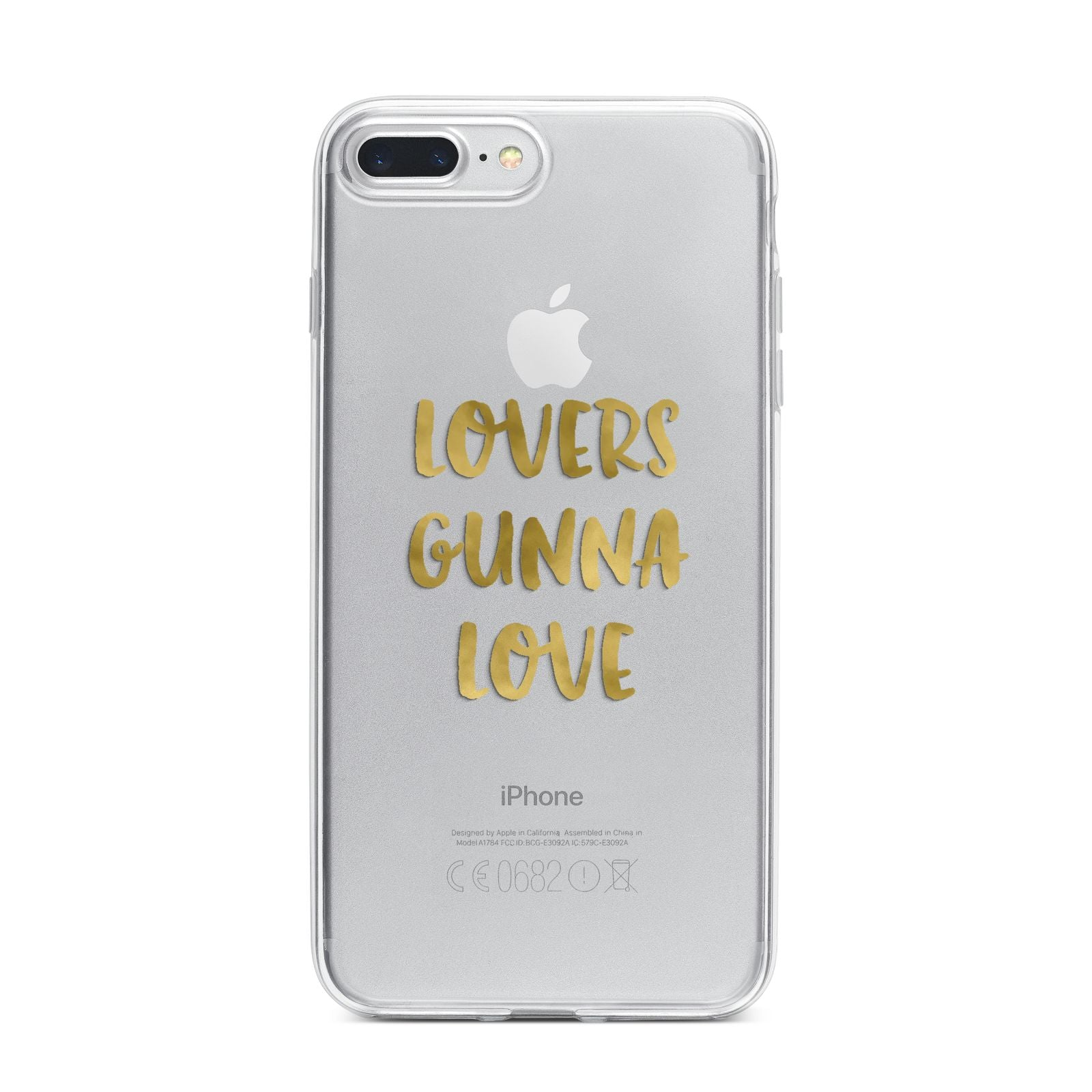 Lovers Gunna Love Real Gold Foil iPhone 7 Plus Bumper Case on Silver iPhone
