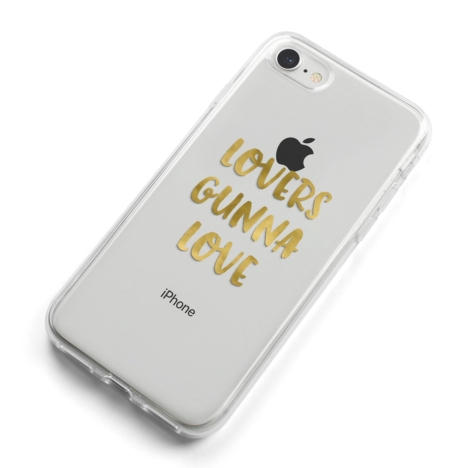 Lovers Gunna Love Real Gold Foil iPhone 8 Bumper Case on Silver iPhone Alternative Image