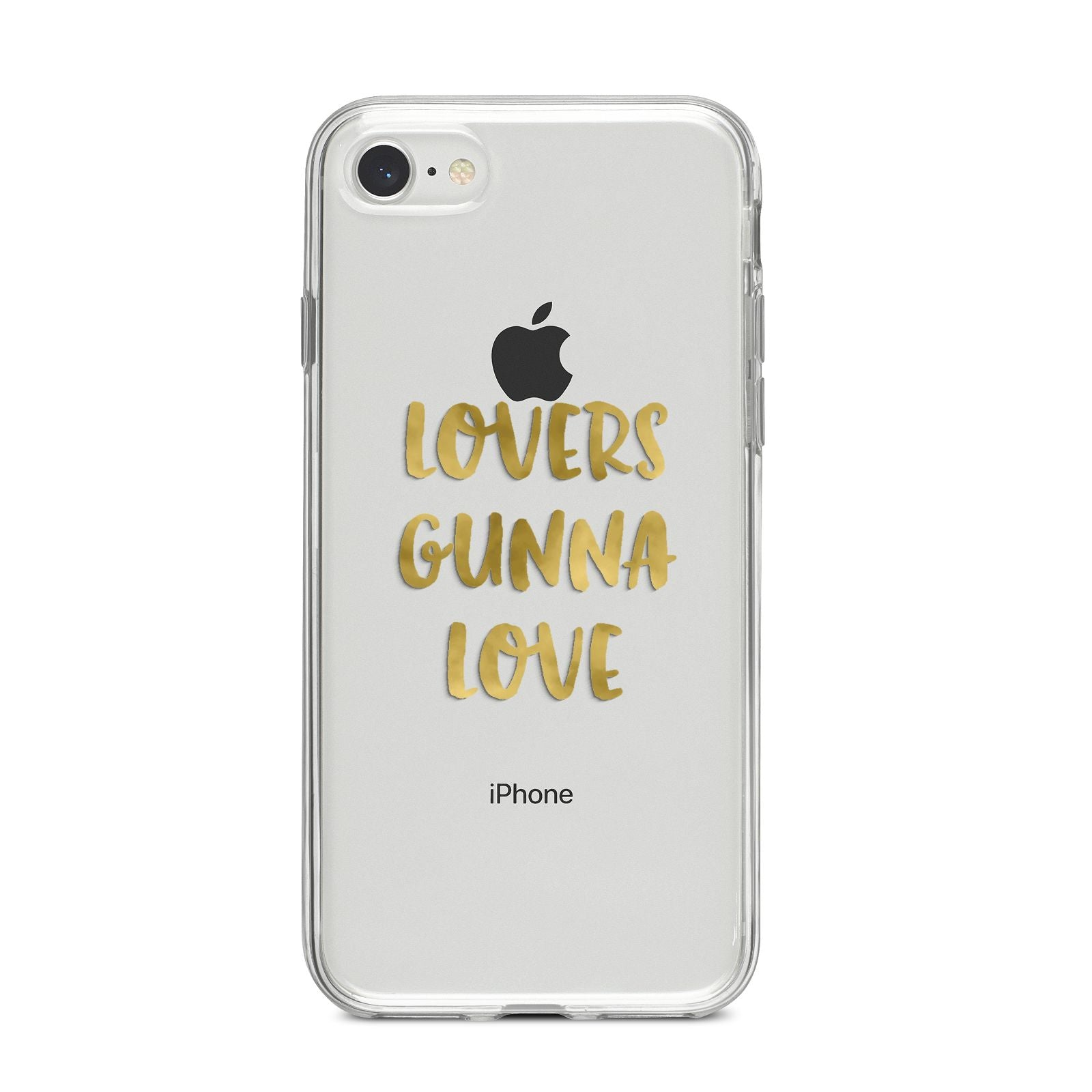 Lovers Gunna Love Real Gold Foil iPhone 8 Bumper Case on Silver iPhone