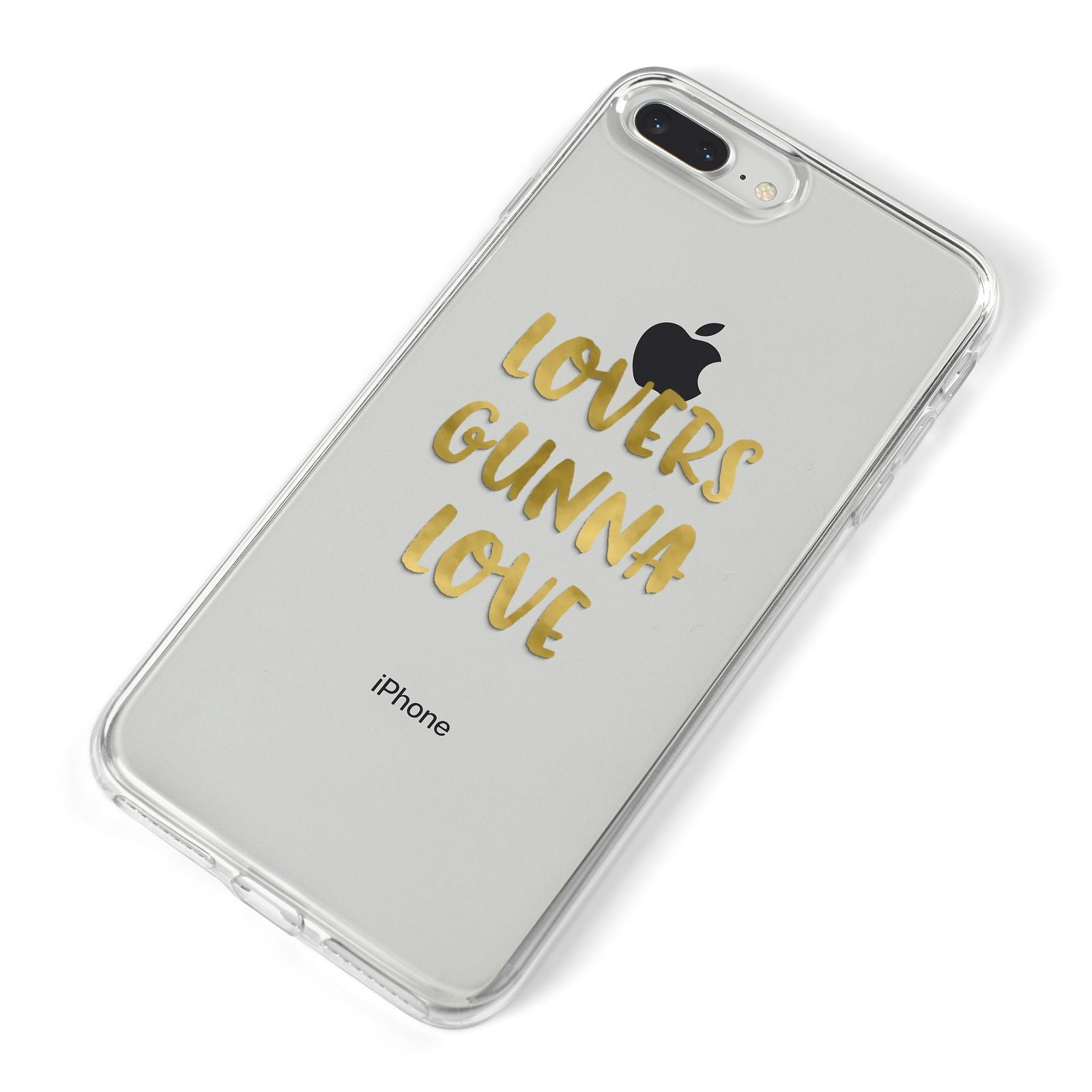 Lovers Gunna Love Real Gold Foil iPhone 8 Plus Bumper Case on Silver iPhone Alternative Image