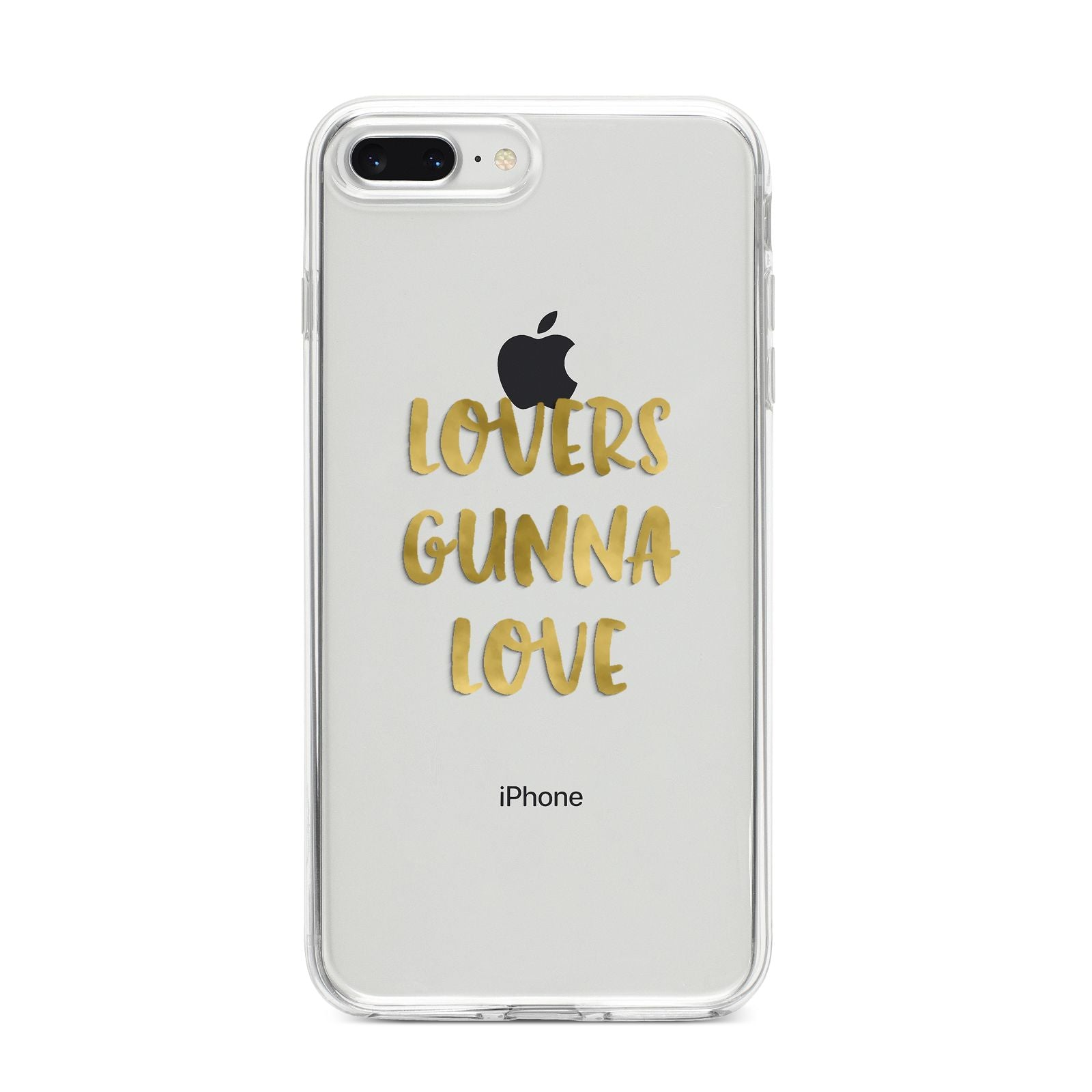Lovers Gunna Love Real Gold Foil iPhone 8 Plus Bumper Case on Silver iPhone