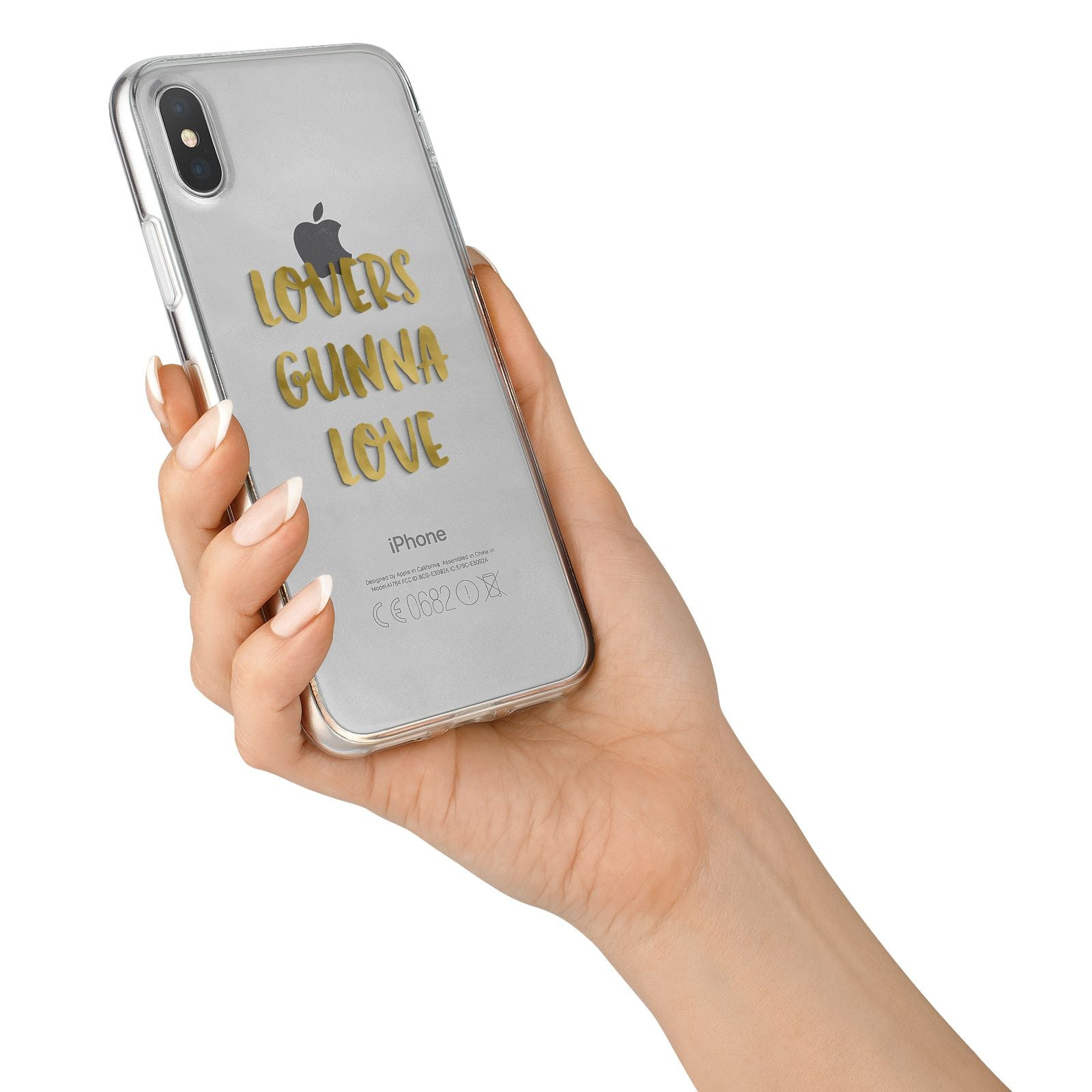 Lovers Gunna Love Real Gold Foil iPhone X Bumper Case on Silver iPhone Alternative Image 2
