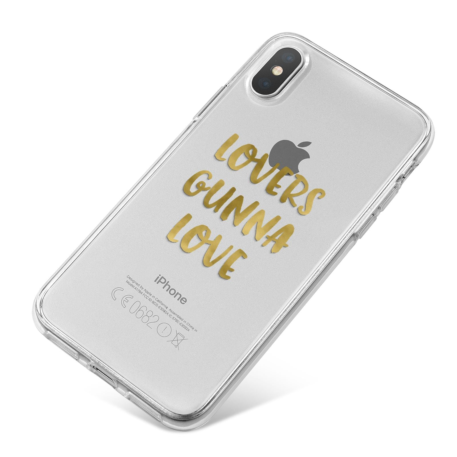 Lovers Gunna Love Real Gold Foil iPhone X Bumper Case on Silver iPhone