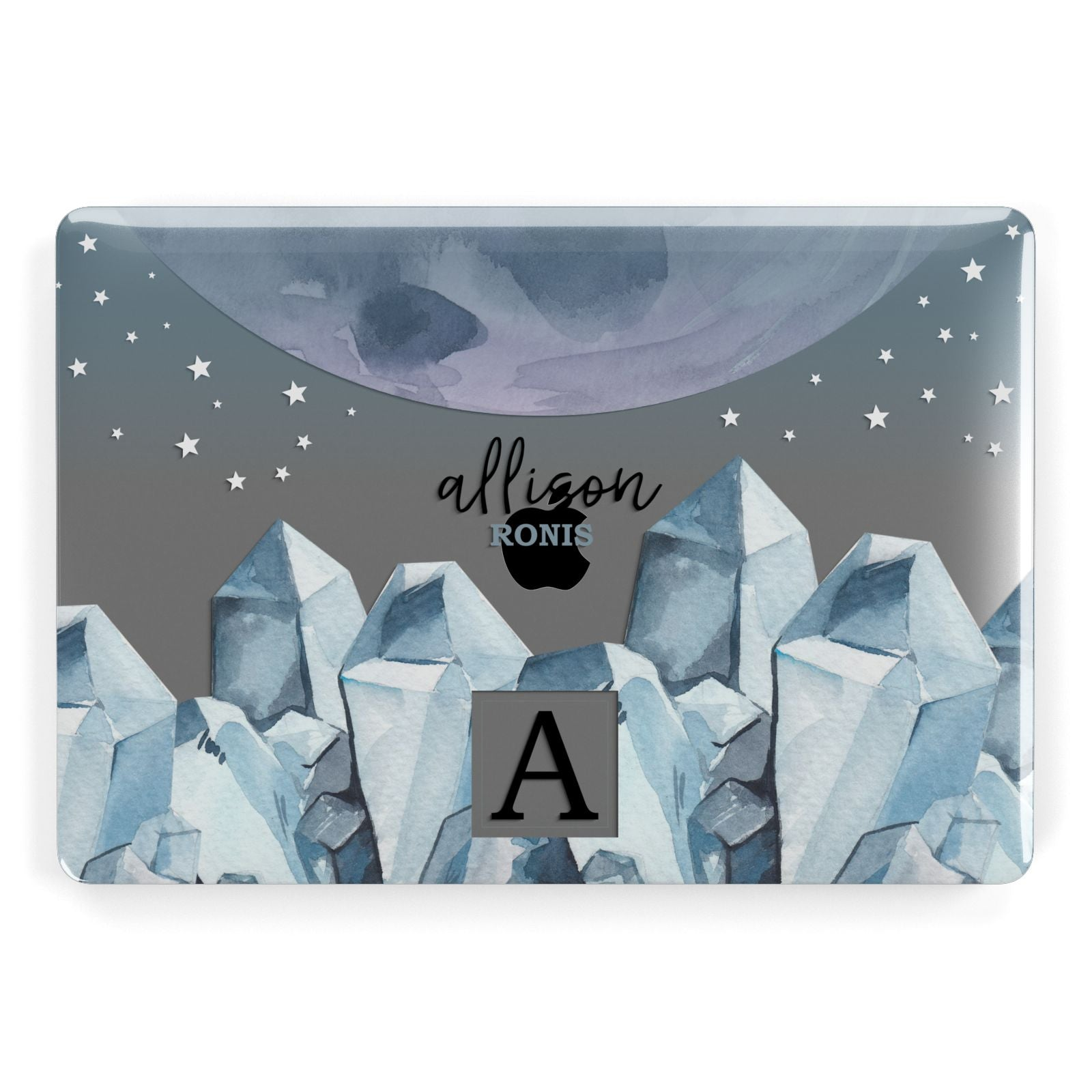 Lunar Crystals Personalised Name Apple MacBook Case