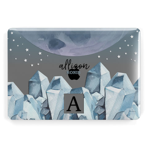 Lunar Crystals Personalised Name Macbook Case