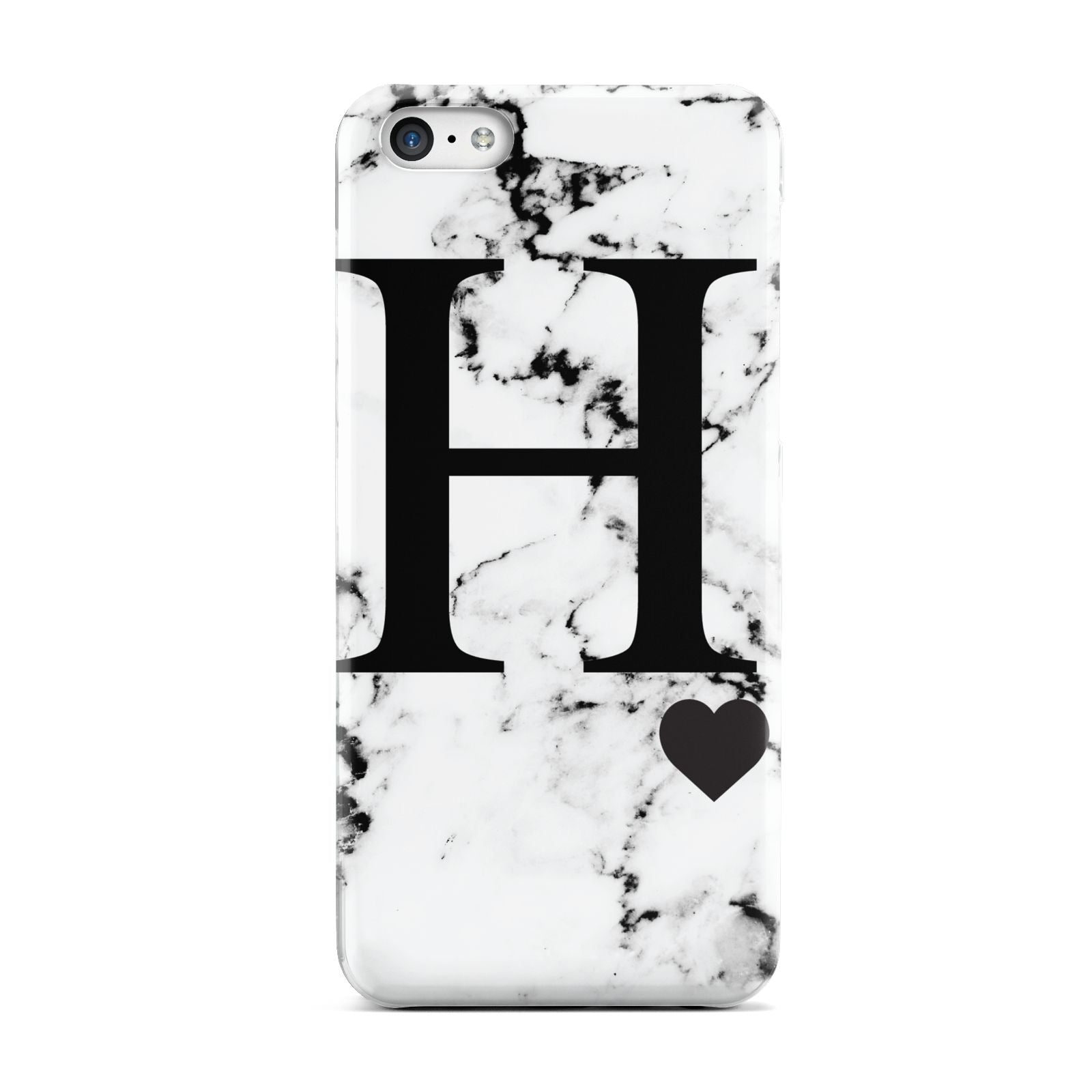 Marble Big Initial Personalised Apple iPhone 5c Case