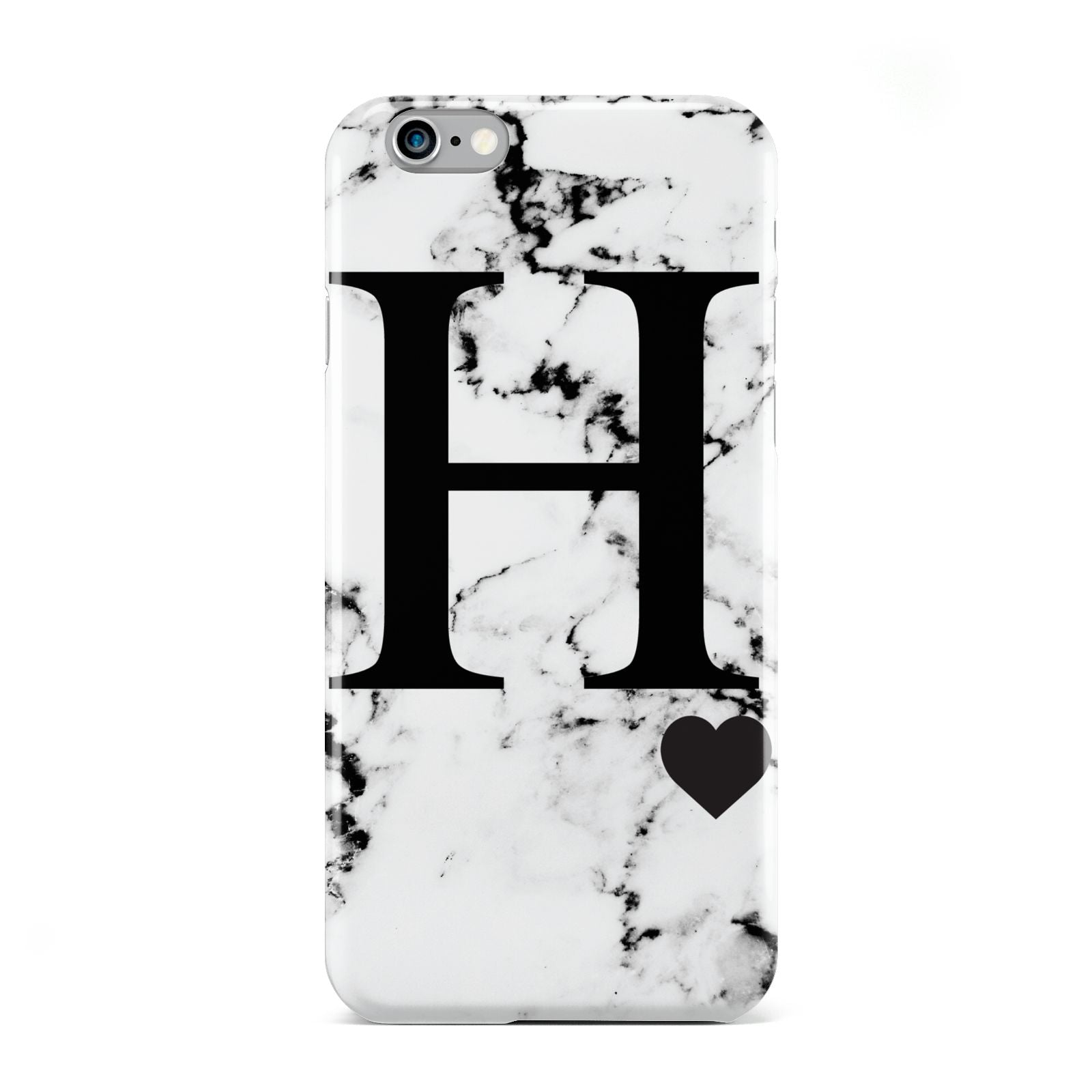 Marble Big Initial Personalised Apple iPhone 6 Case