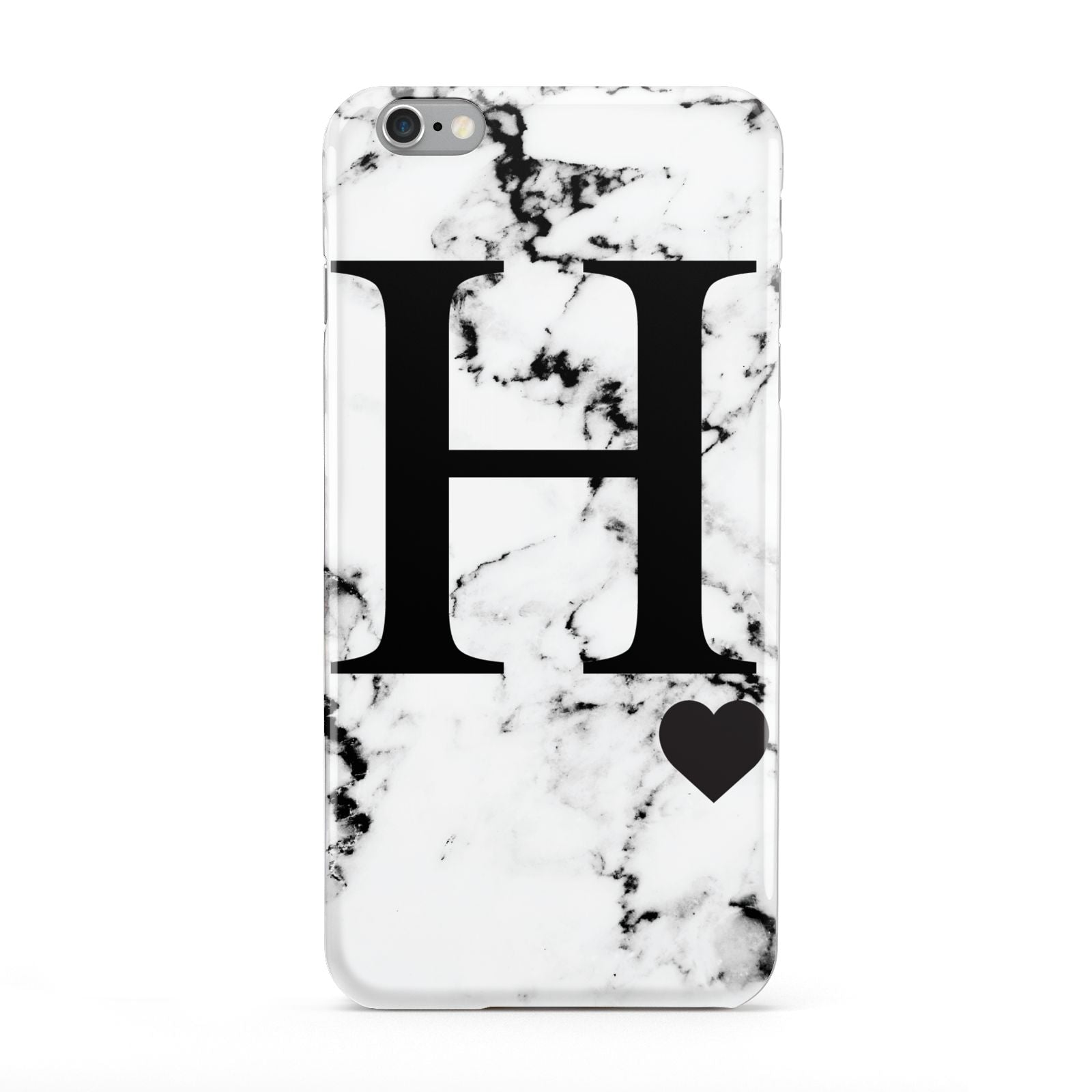Marble Big Initial Personalised Apple iPhone 6 Plus Case