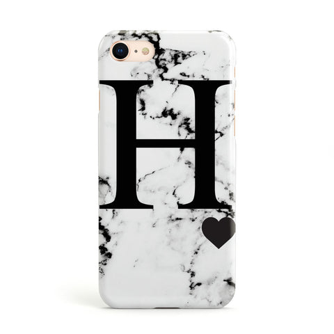 Marble Big Initial Personalised Apple iPhone Case