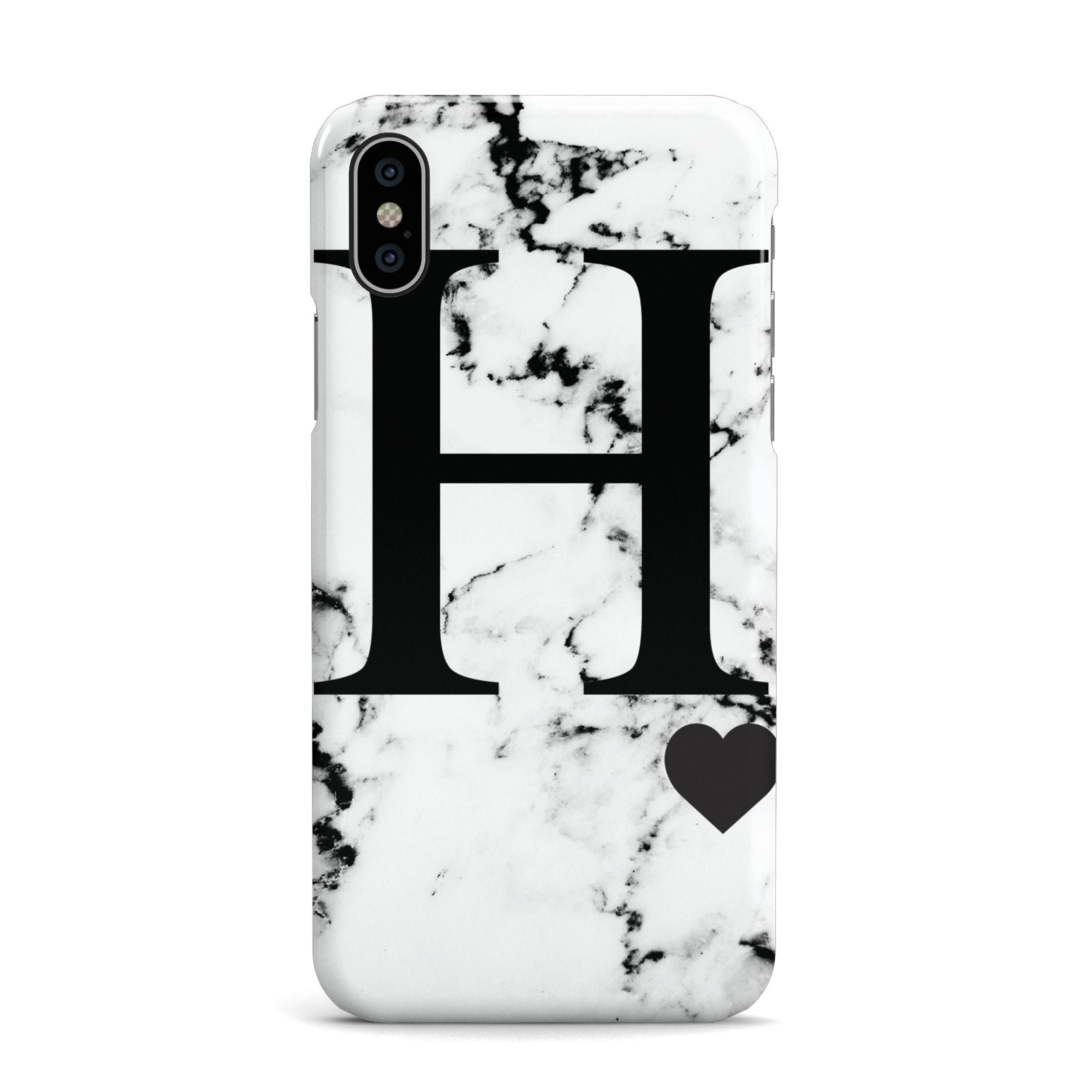 Marble Big Initial Personalised Apple iPhone X Case
