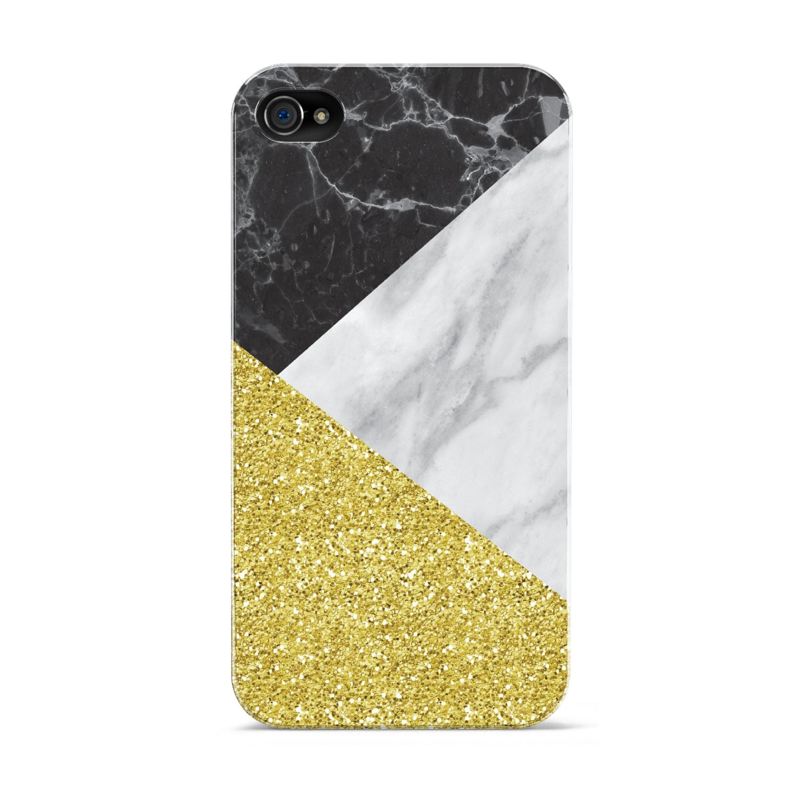 Marble Black Gold Apple iPhone 4s Case