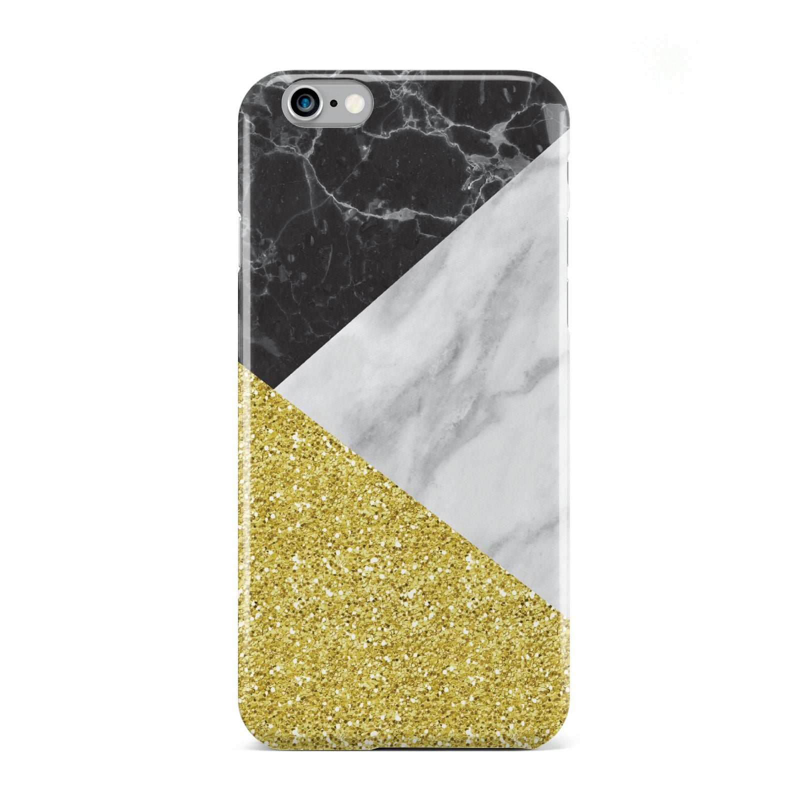 Marble Black Gold Apple iPhone 6 Case
