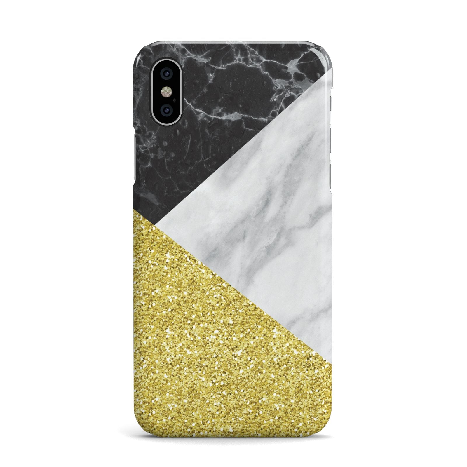 Marble Black Gold Apple iPhone X Case