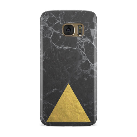 Marble Black & Gold Foil Effect Samsung Galaxy Case