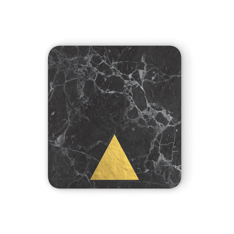 Marble Black & Gold Foil Coasters set of 4